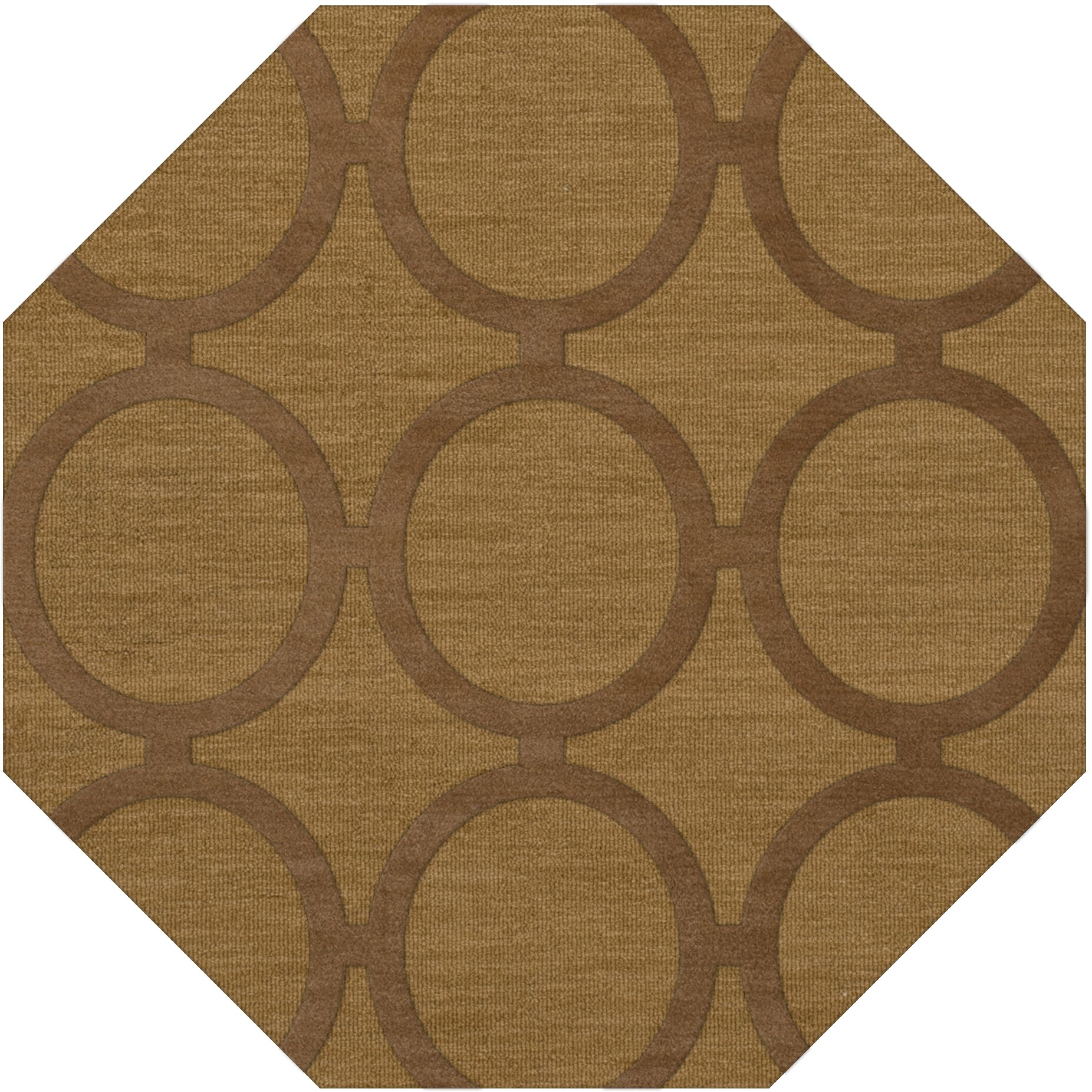 Dover Tufted Wool Gold Dust Area Rug Rug Size: Octagon 10'