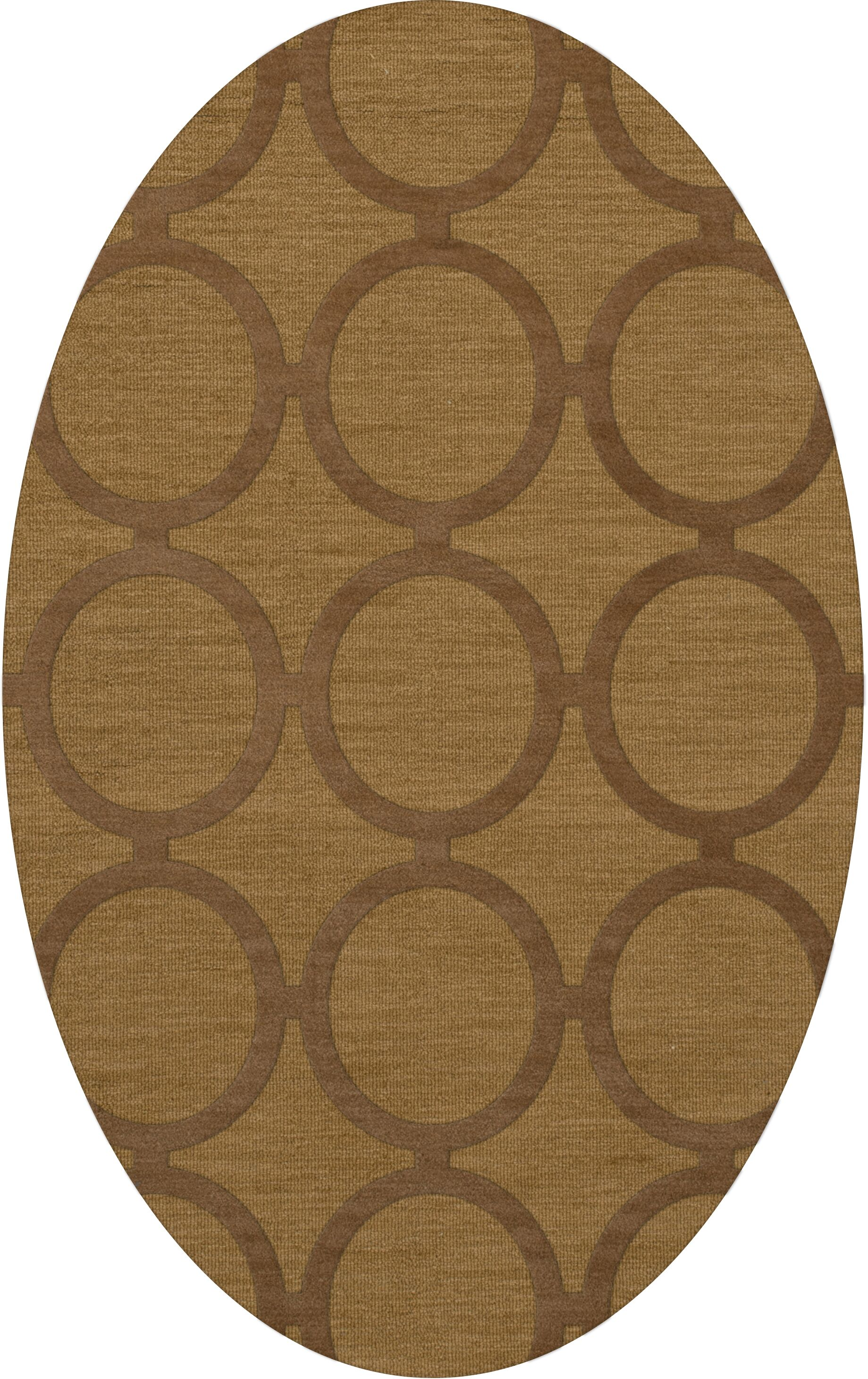 Dover Tufted Wool Gold Dust Area Rug Rug Size: Oval 6' x 9'