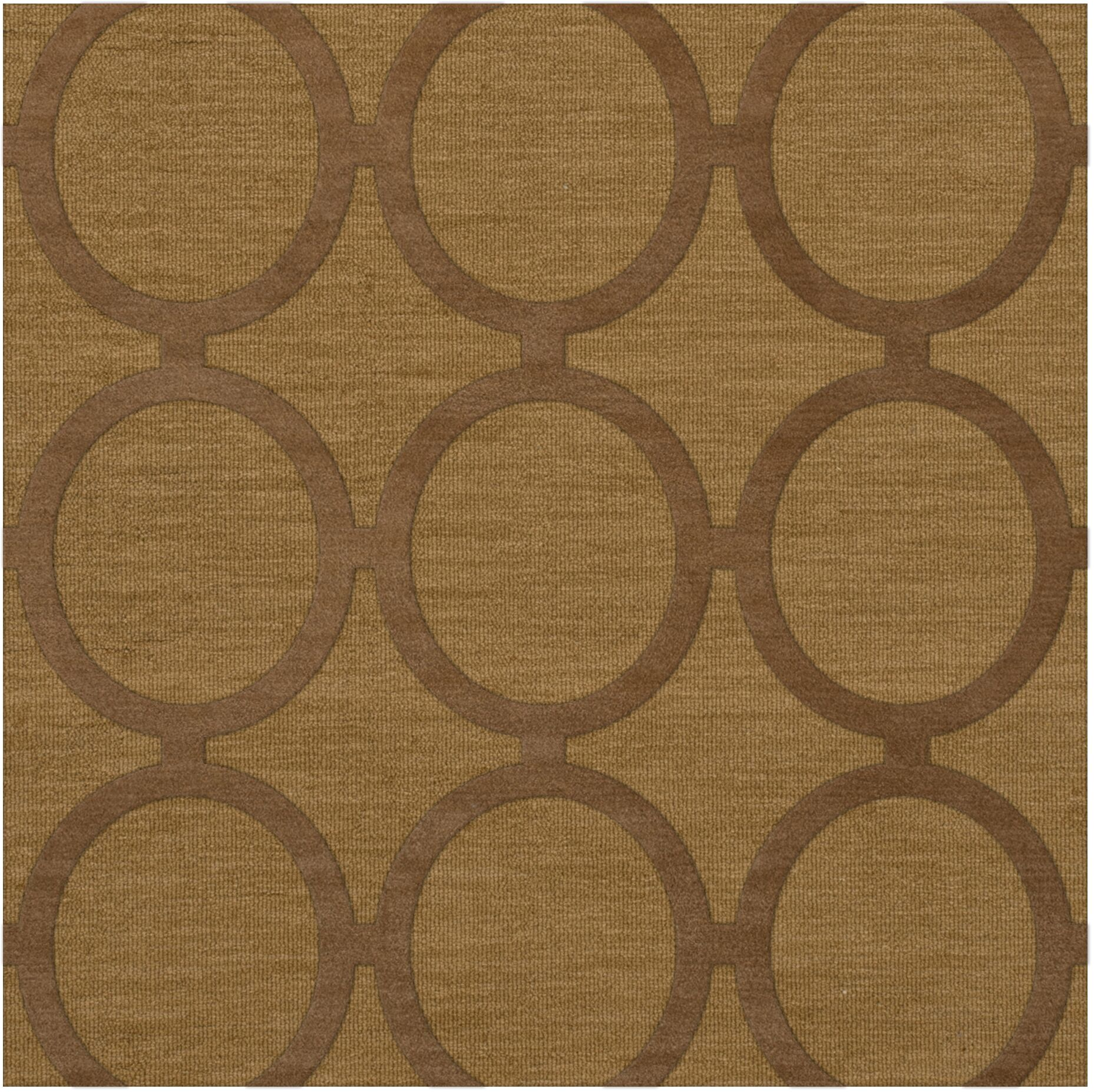 Dover Tufted Wool Gold Dust Area Rug Rug Size: Square 4'