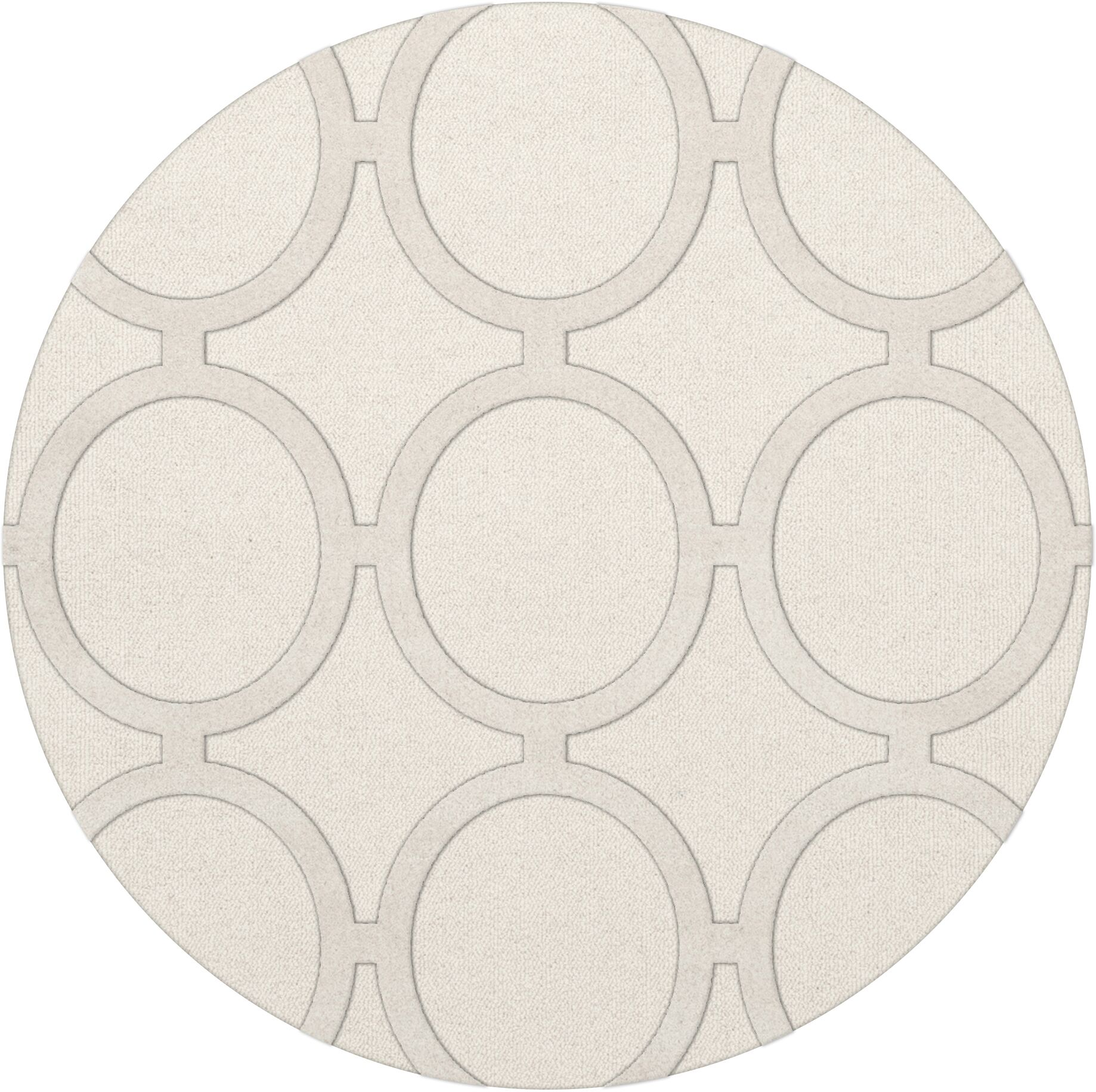Dover Snow Area Rug Rug Size: Round 6'