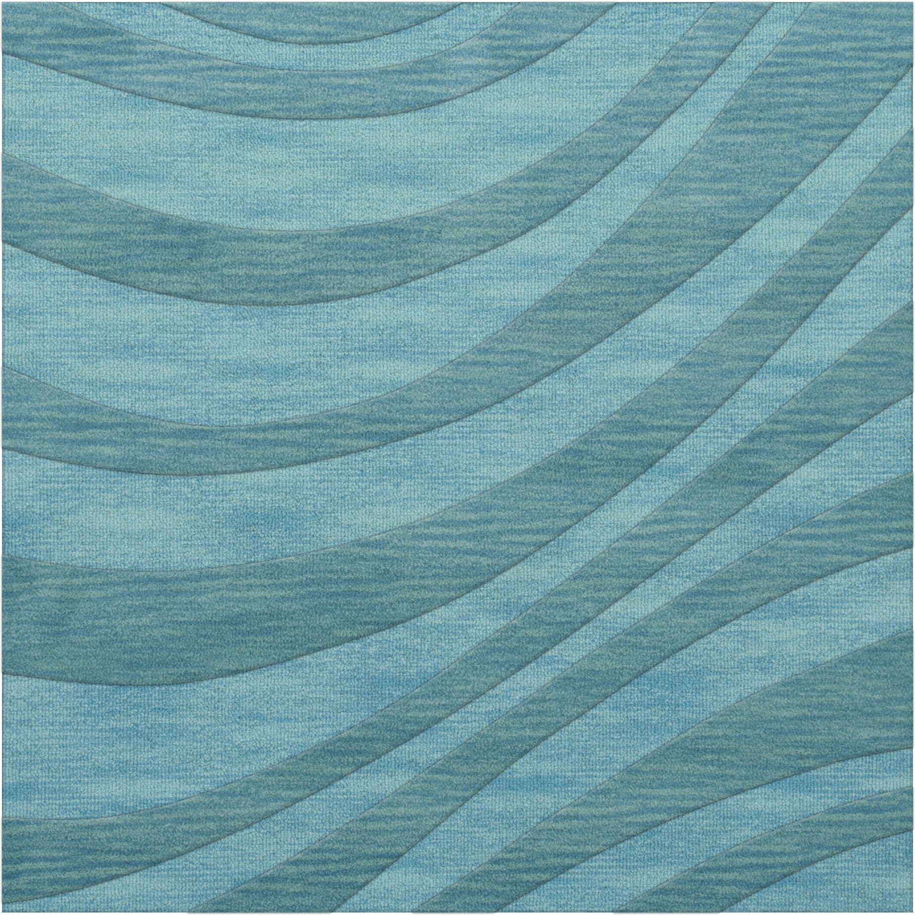 Dover Tufted Wool Peacock Area Rug Rug Size: Octagon 4'