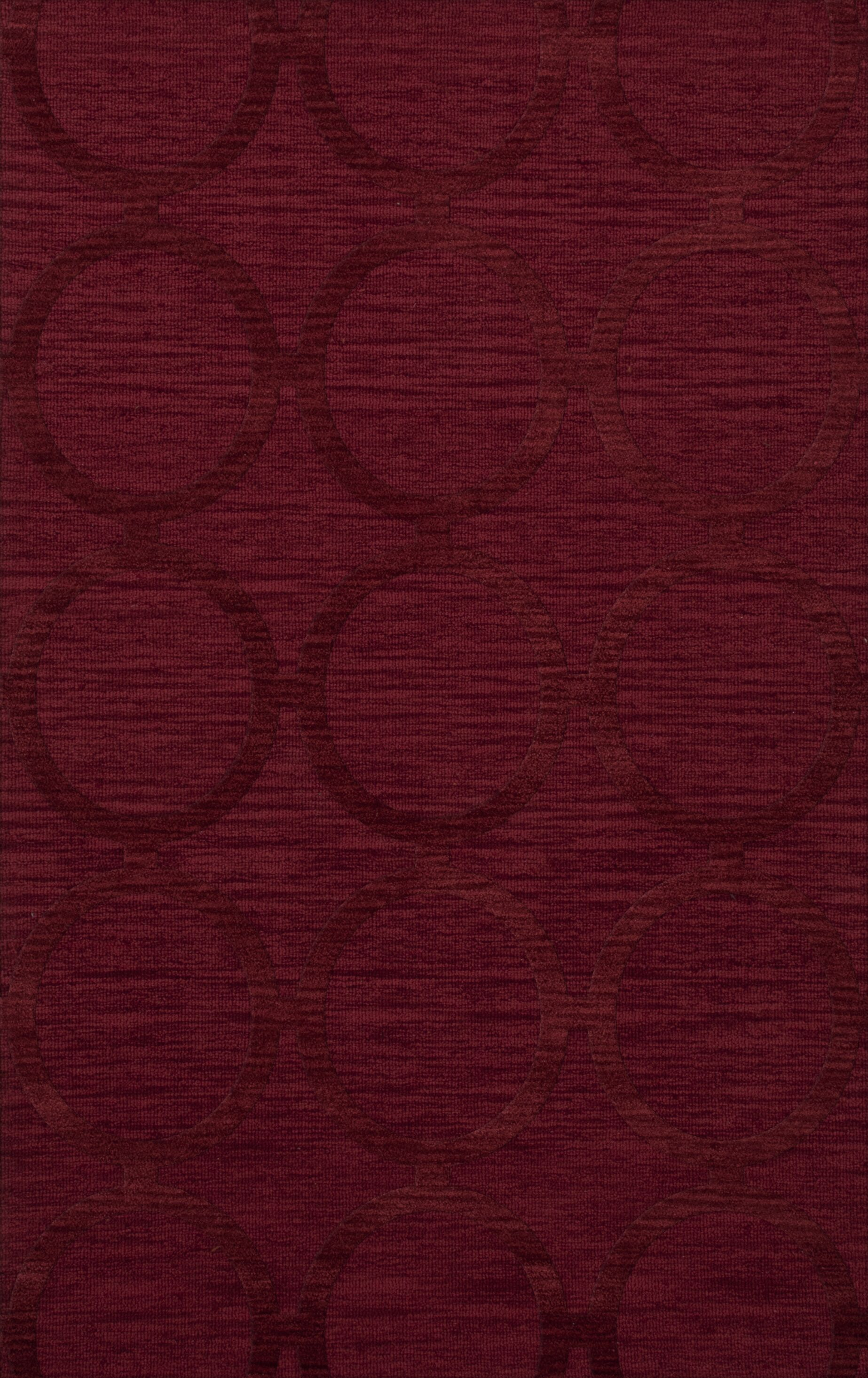 Dover Rich Red Area Rug Rug Size: Rectangle 4' x 6'