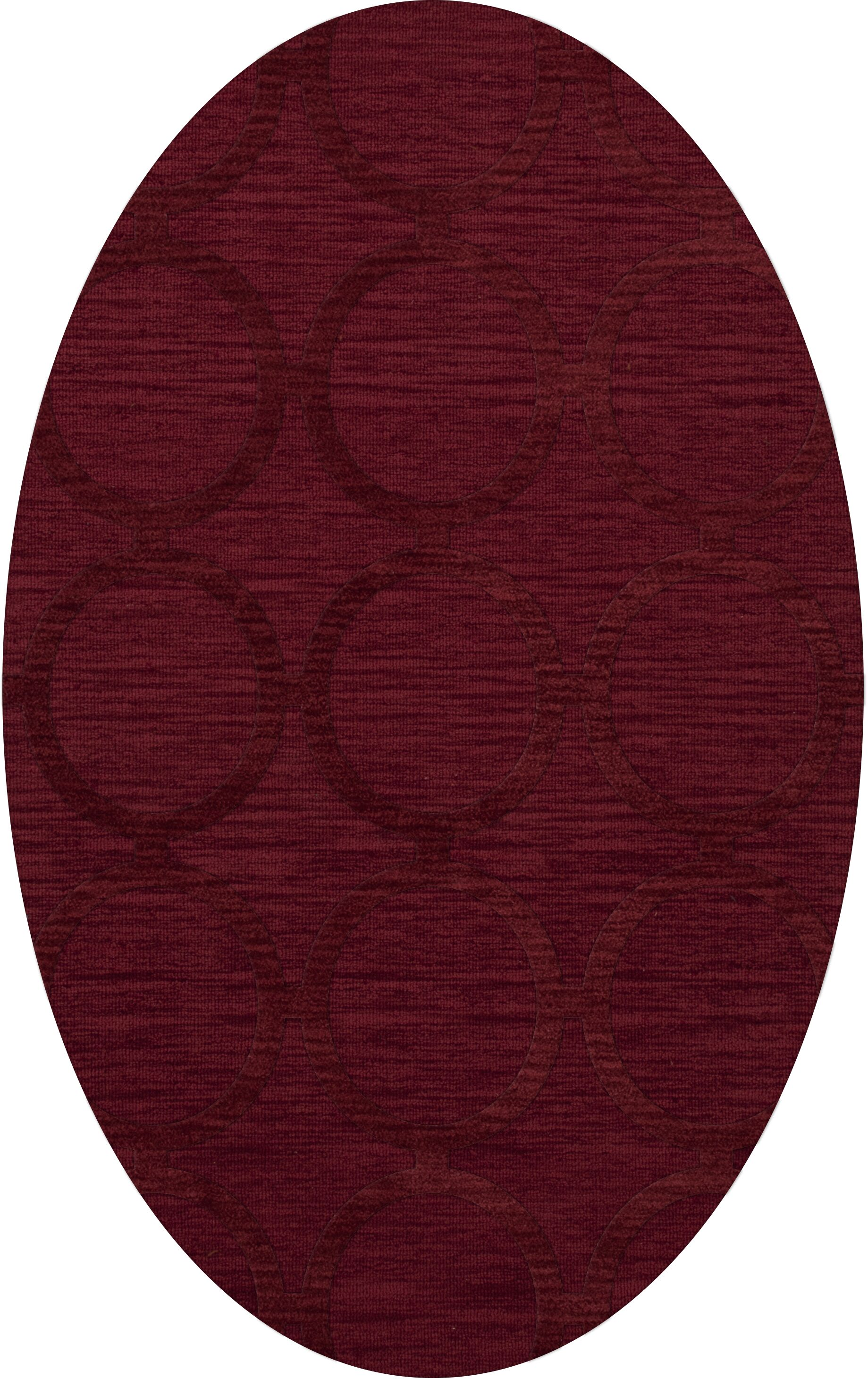 Dover Rich Red Area Rug Rug Size: Oval 12' x 18'