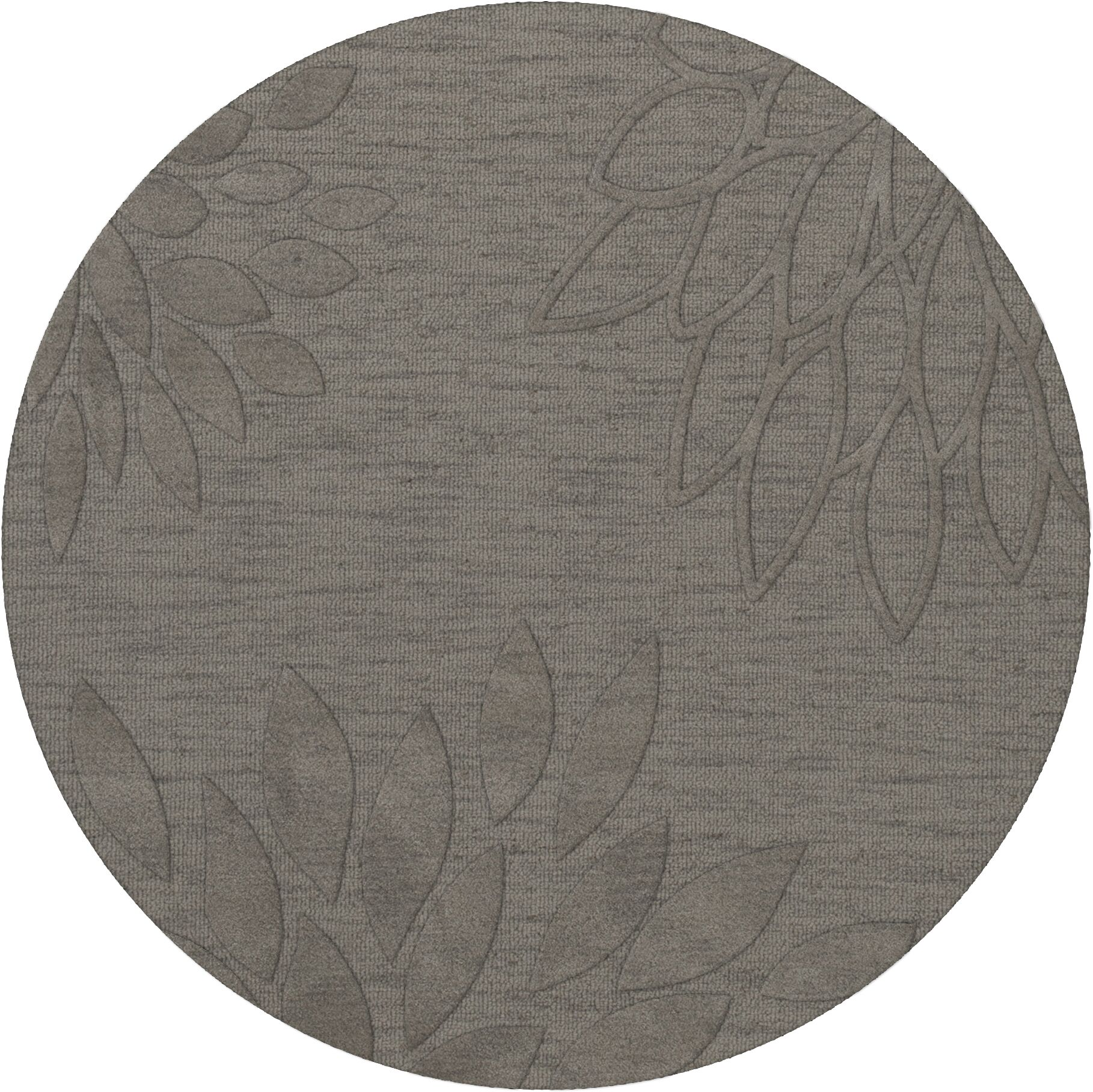 Bao Silver Area Rug Rug Size: Round 12'
