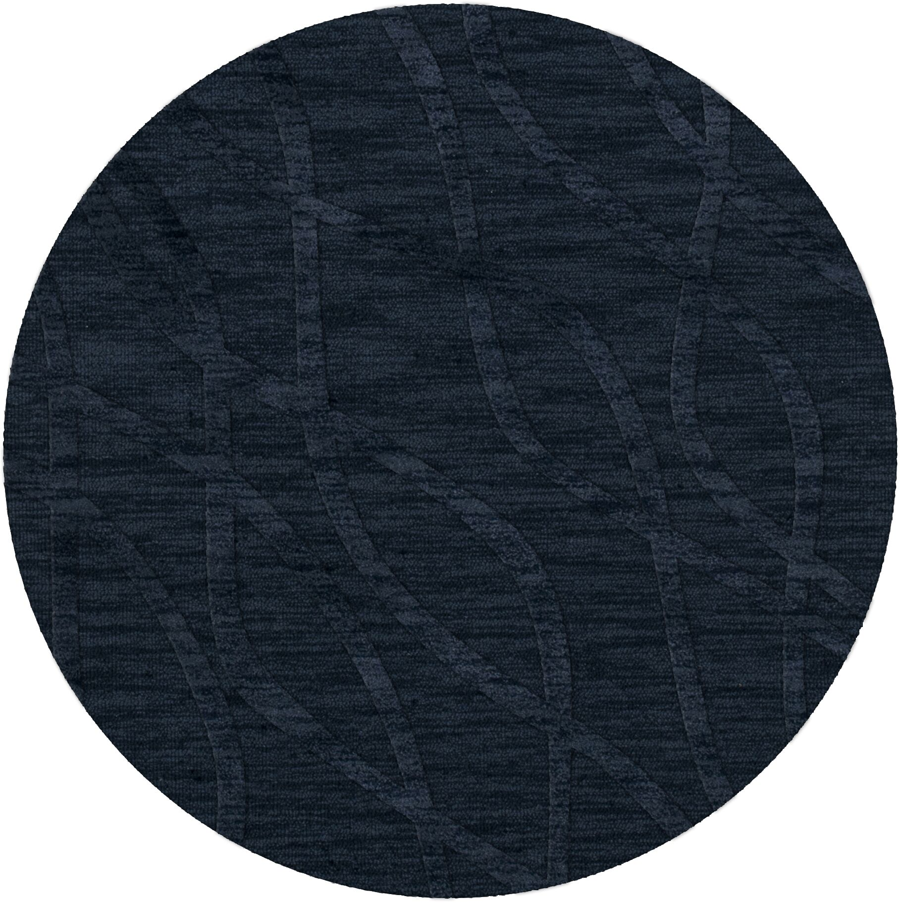 Dover Navy Area Rug Rug Size: Round 4'