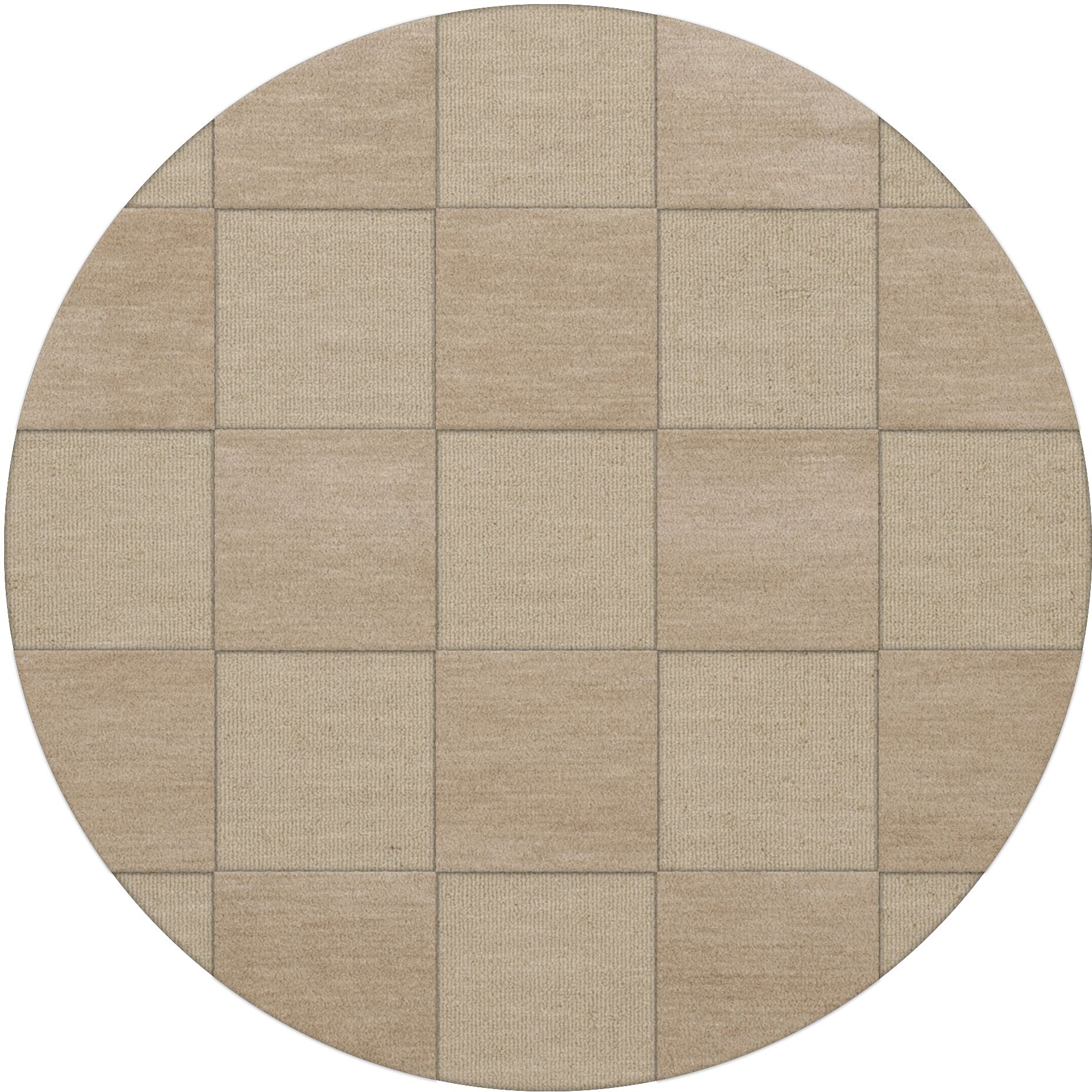 Dover Tufted Wool Linen Area Rug Rug Size: Round 4'