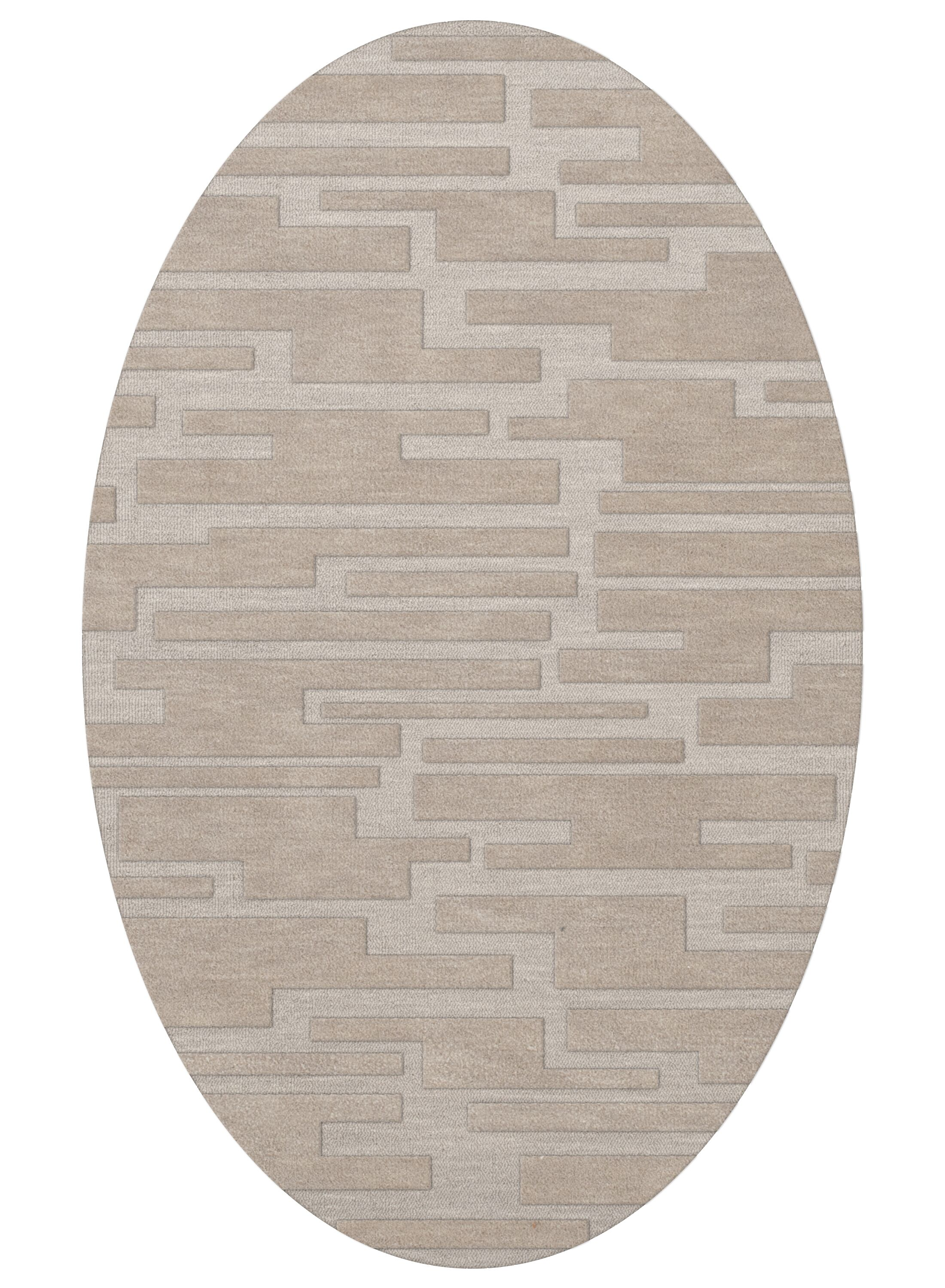 Dover Putty Area Rug Rug Size: Oval 6' x 9'
