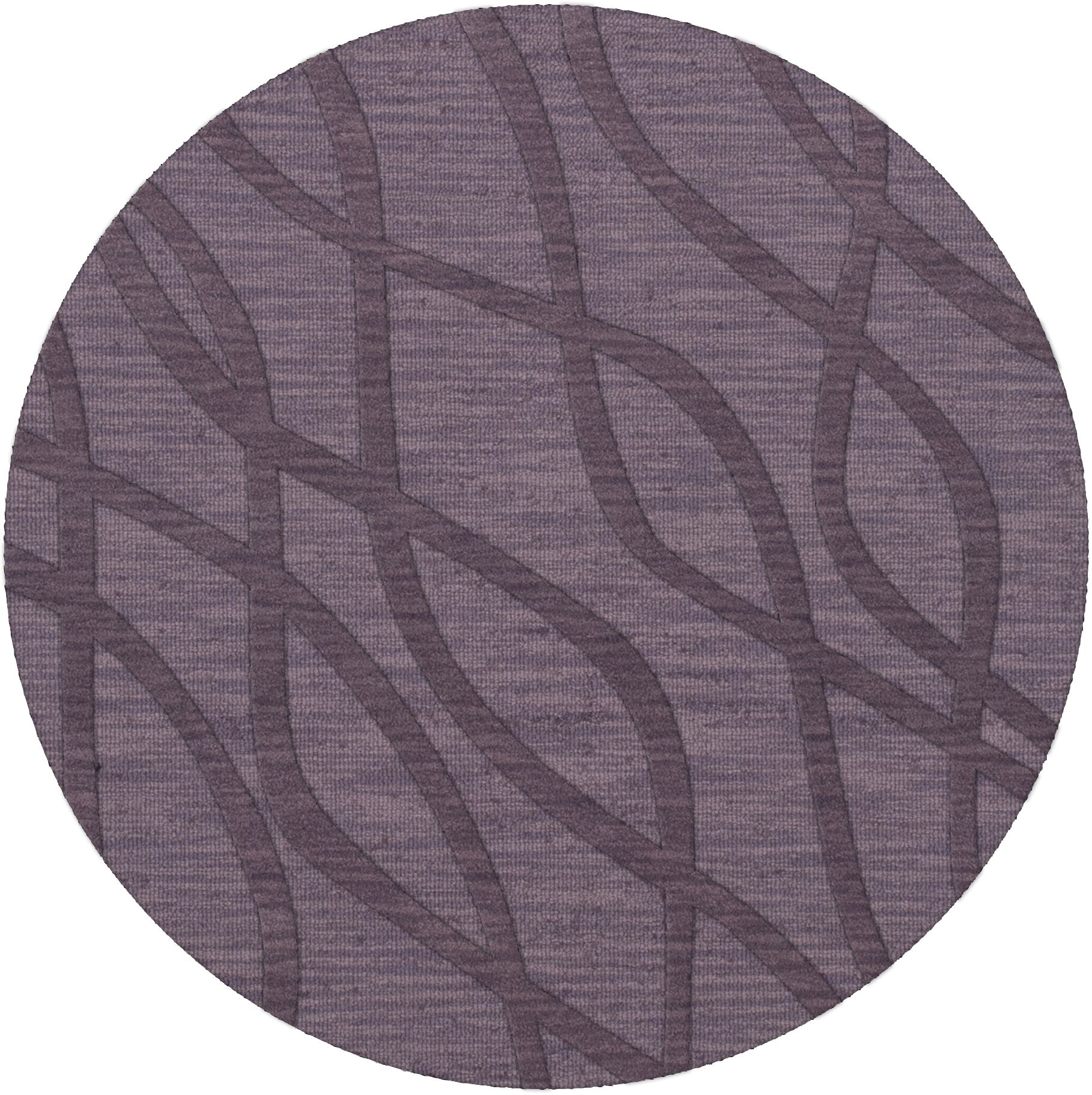 Dover Tufted Wool Viola Area Rug Rug Size: Round 4'