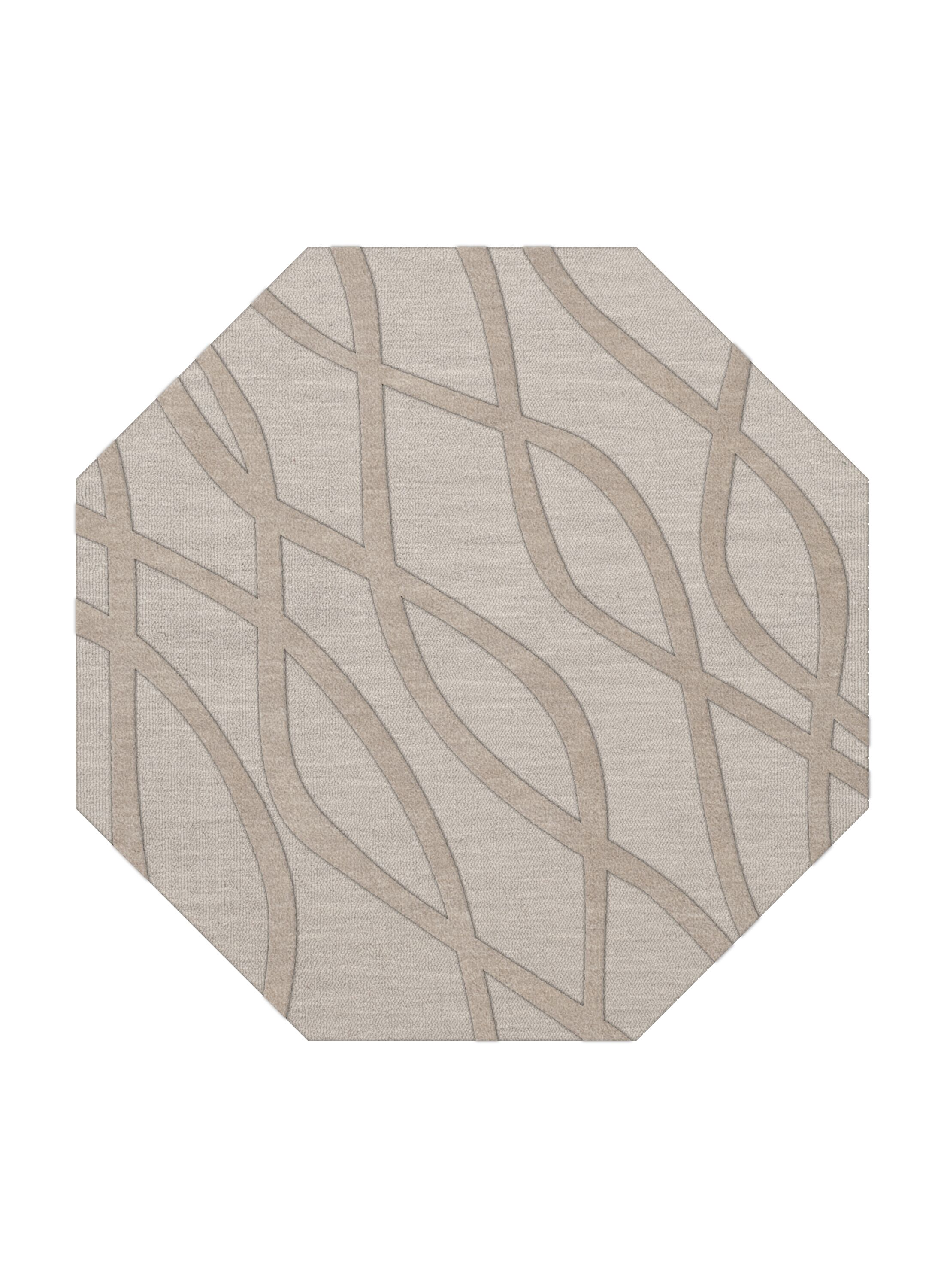 Dover Tufted Wool Putty Area Rug Rug Size: Octagon 6'