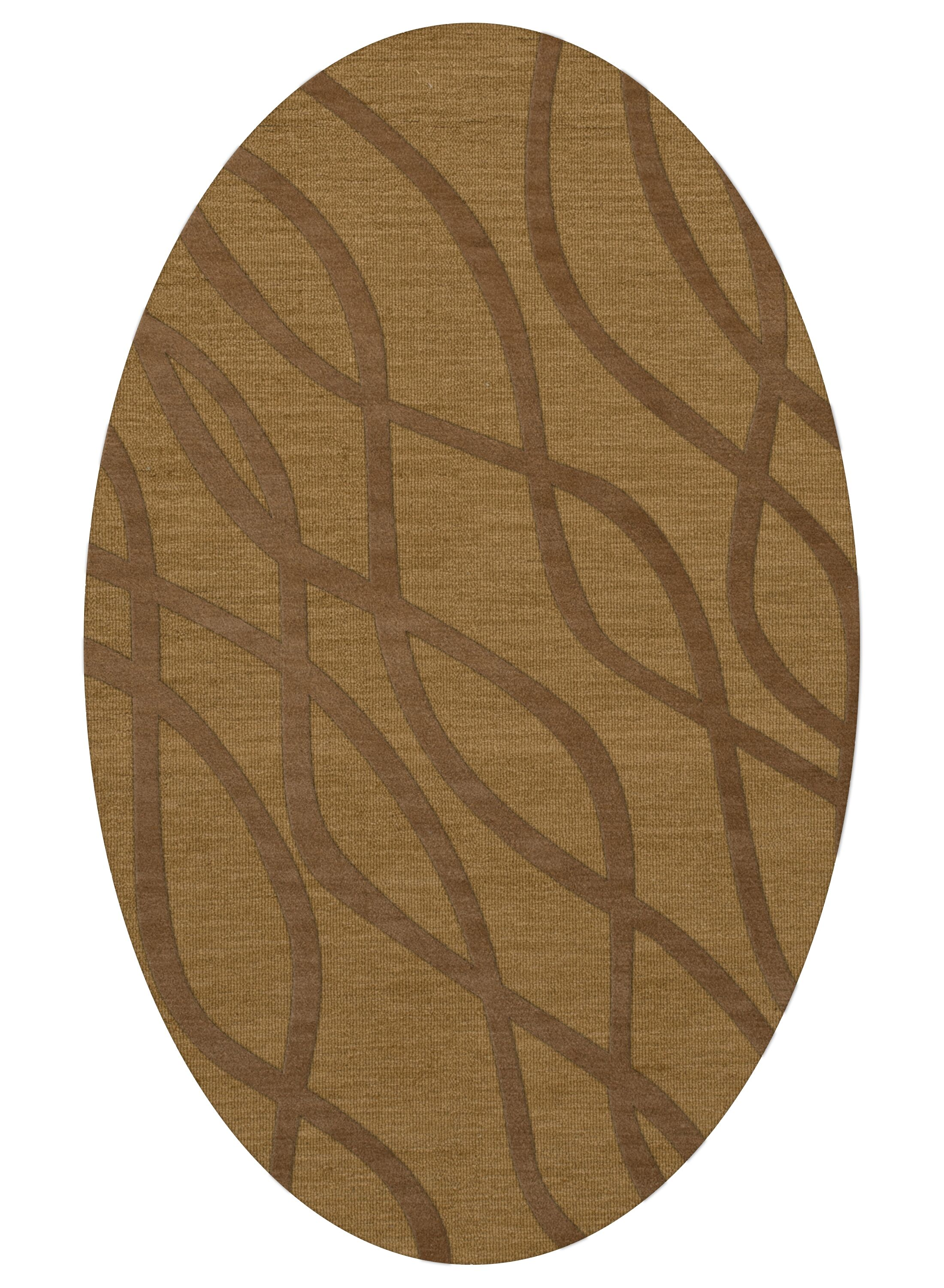 Dover Gold Dust Area Rug Rug Size: Oval 3' x 5'