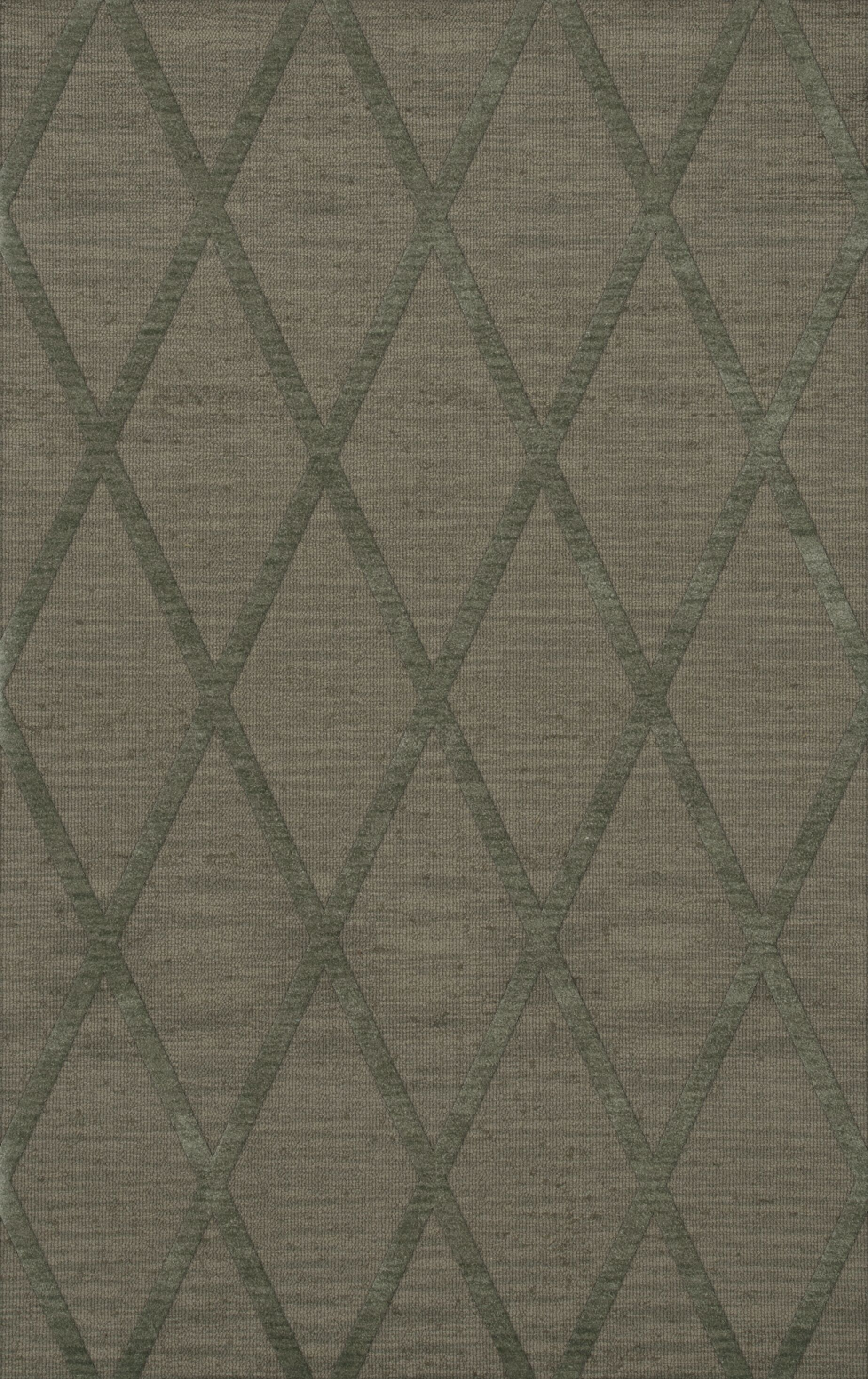 Dover Tufted Wool Aloe Area Rug Rug Size: Rectangle 12' x 15'