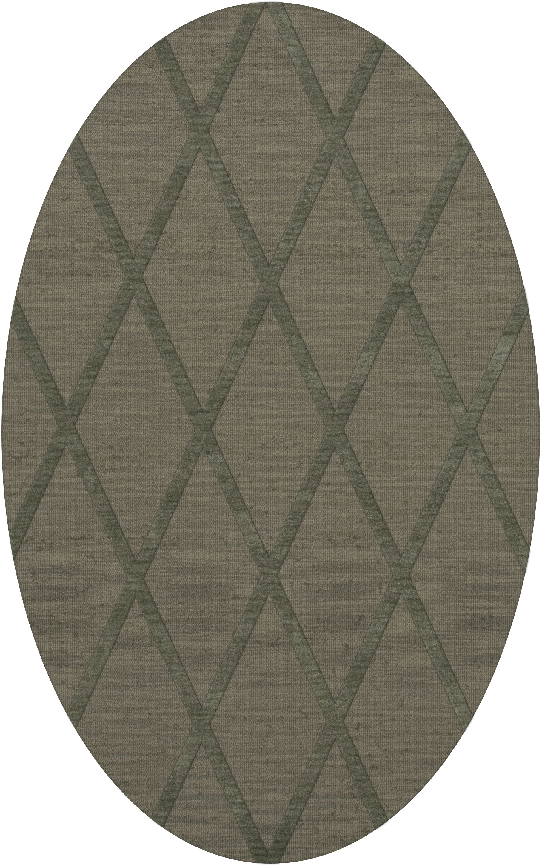 Dover Tufted Wool Aloe Area Rug Rug Size: Oval 5' x 8'