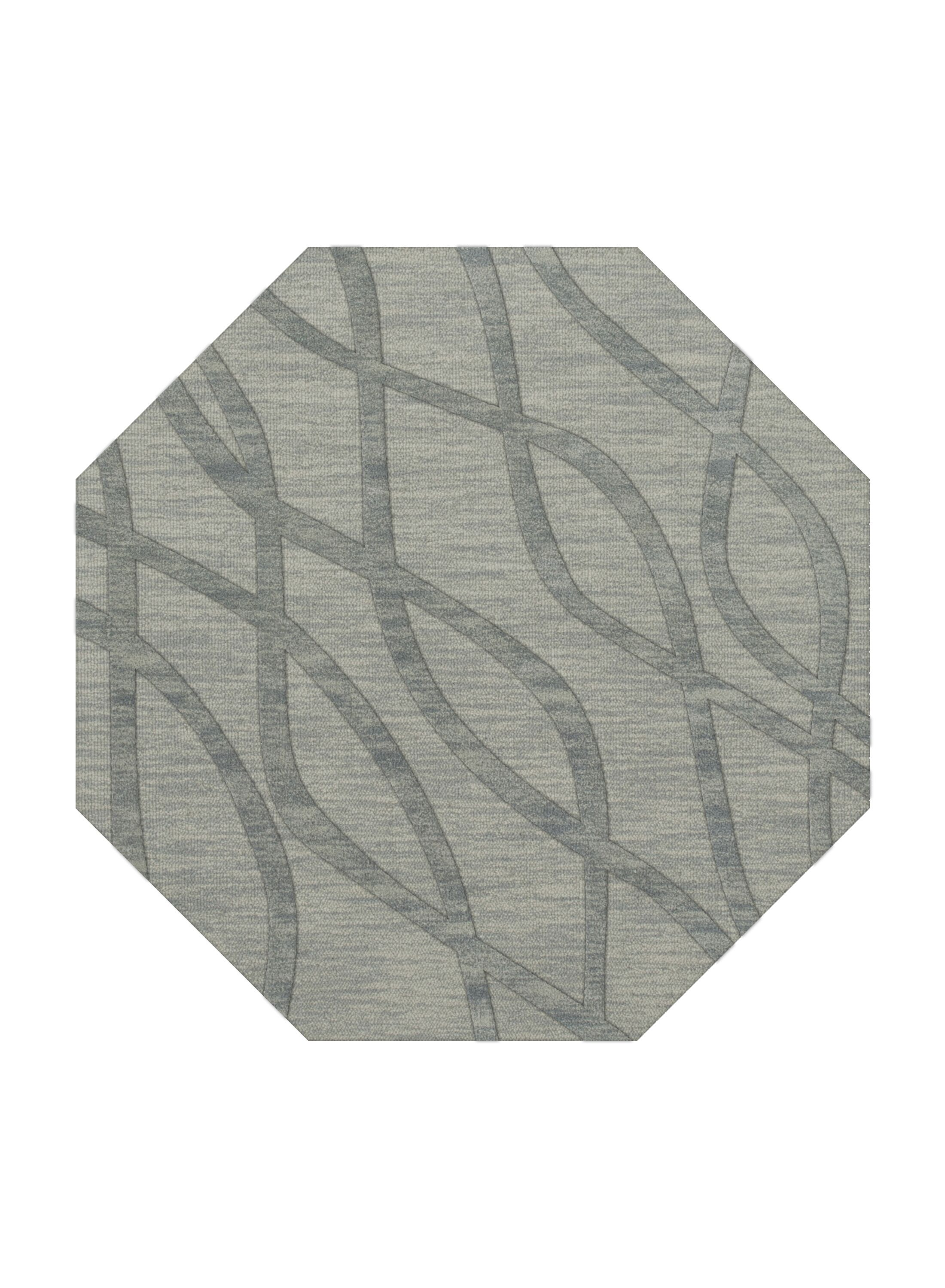 Dover Tufted Wool Sea Glass Area Rug Rug Size: Octagon 12'