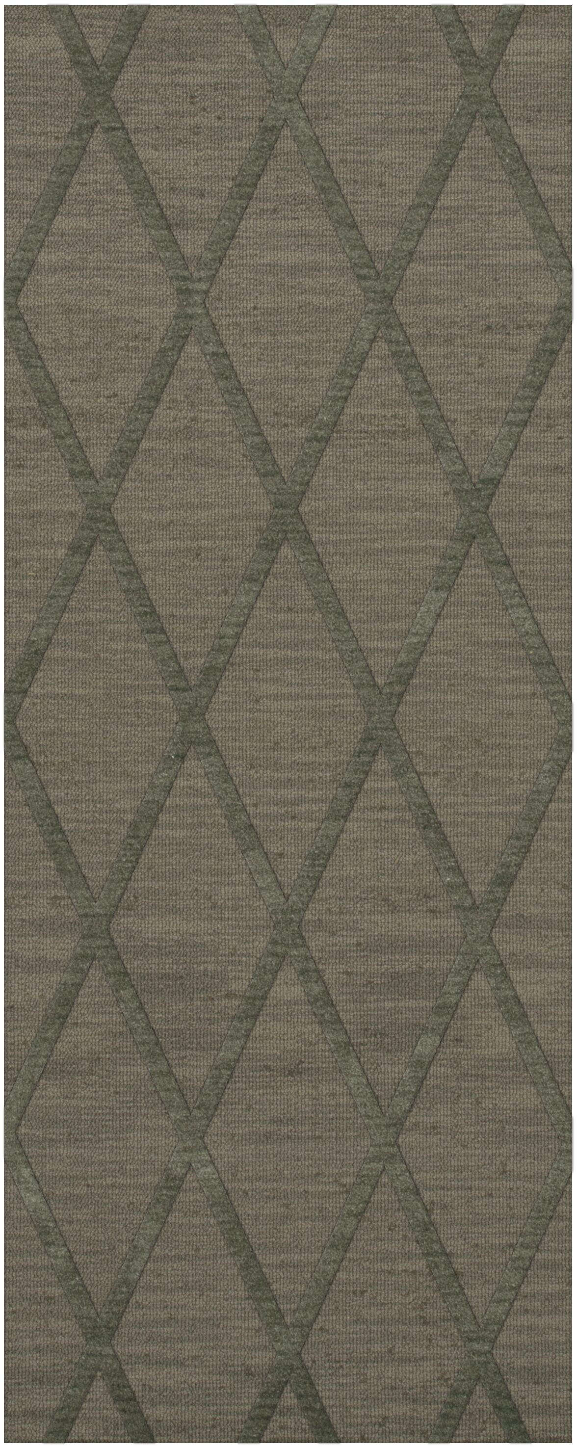 Dover Tufted Wool Aloe Area Rug Rug Size: Runner 2'6
