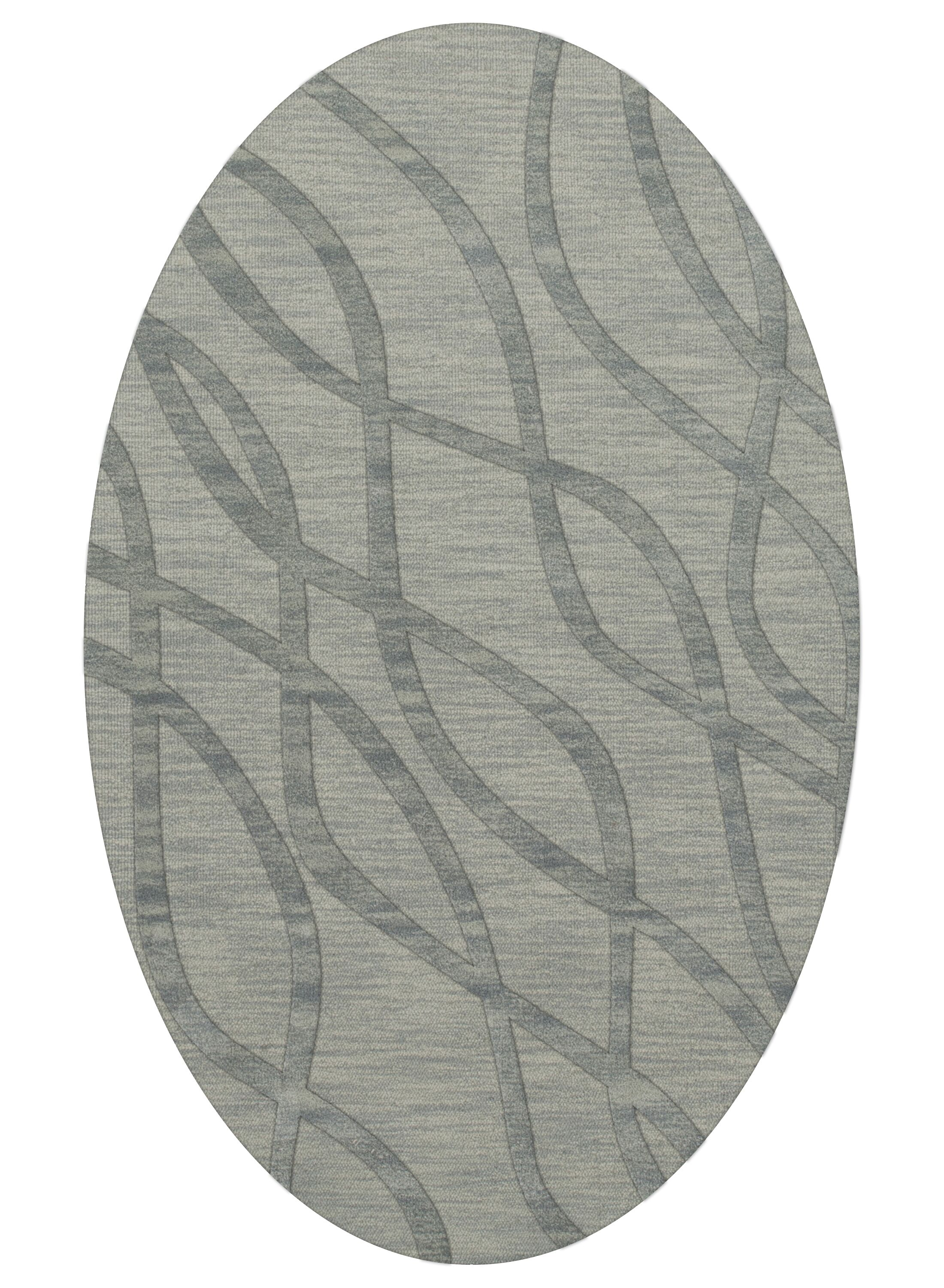 Dover Tufted Wool Sea Glass Area Rug Rug Size: Oval 9' x 12'