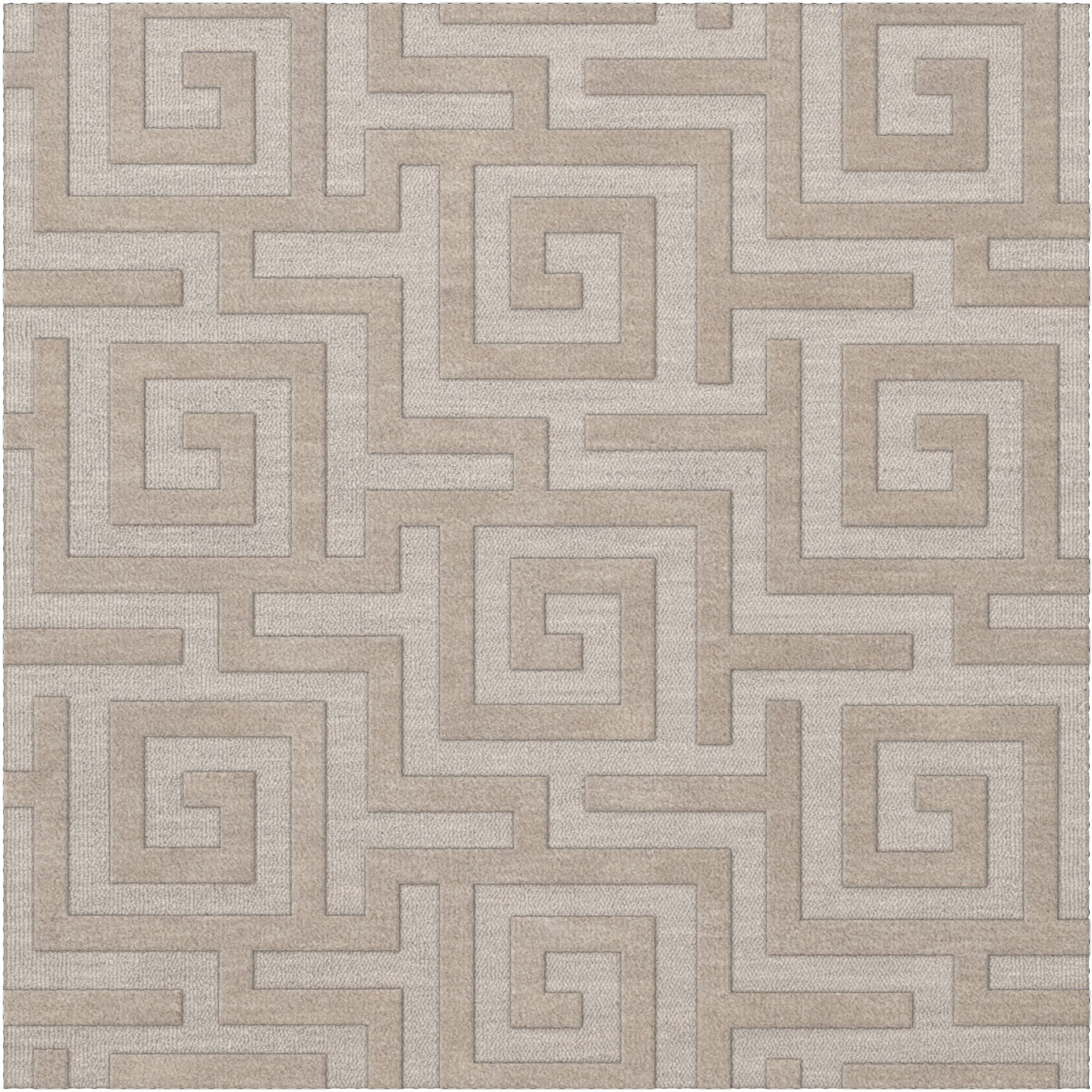 Dover Tufted Wool Putty Area Rug Rug Size: Square 6'