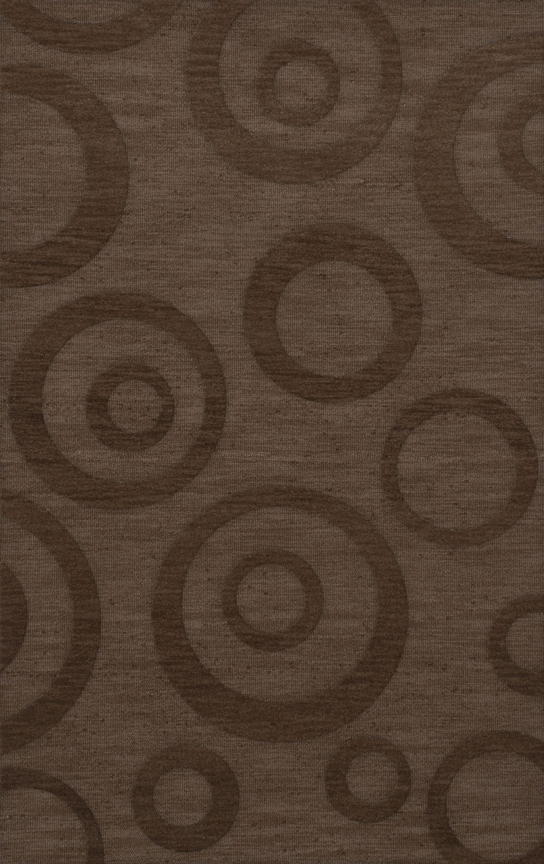 Dover Tufted Wool Mocha Area Rug Rug Size: Rectangle 12' x 18'