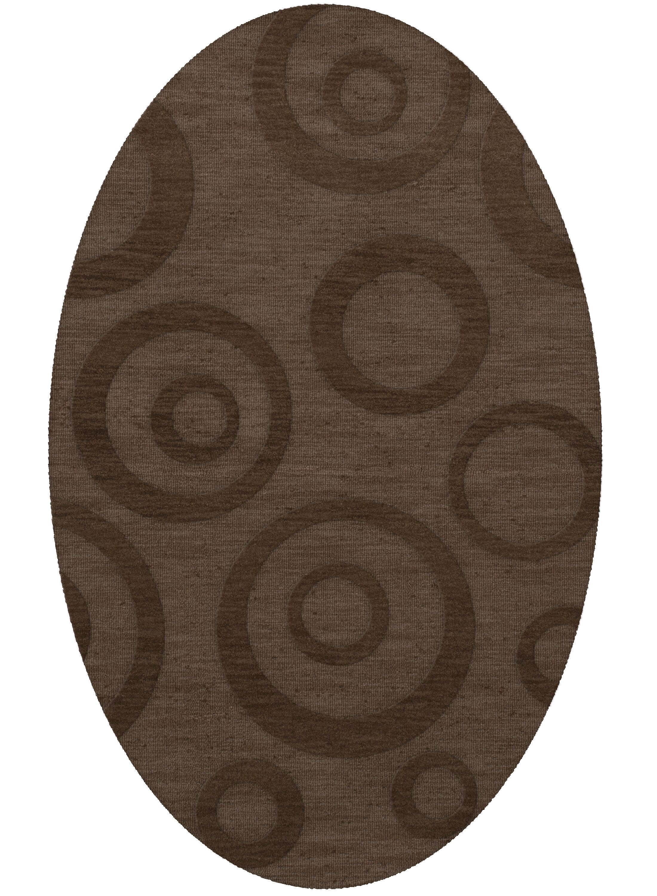 Dover Tufted Wool Mocha Area Rug Rug Size: Oval 12' x 18'