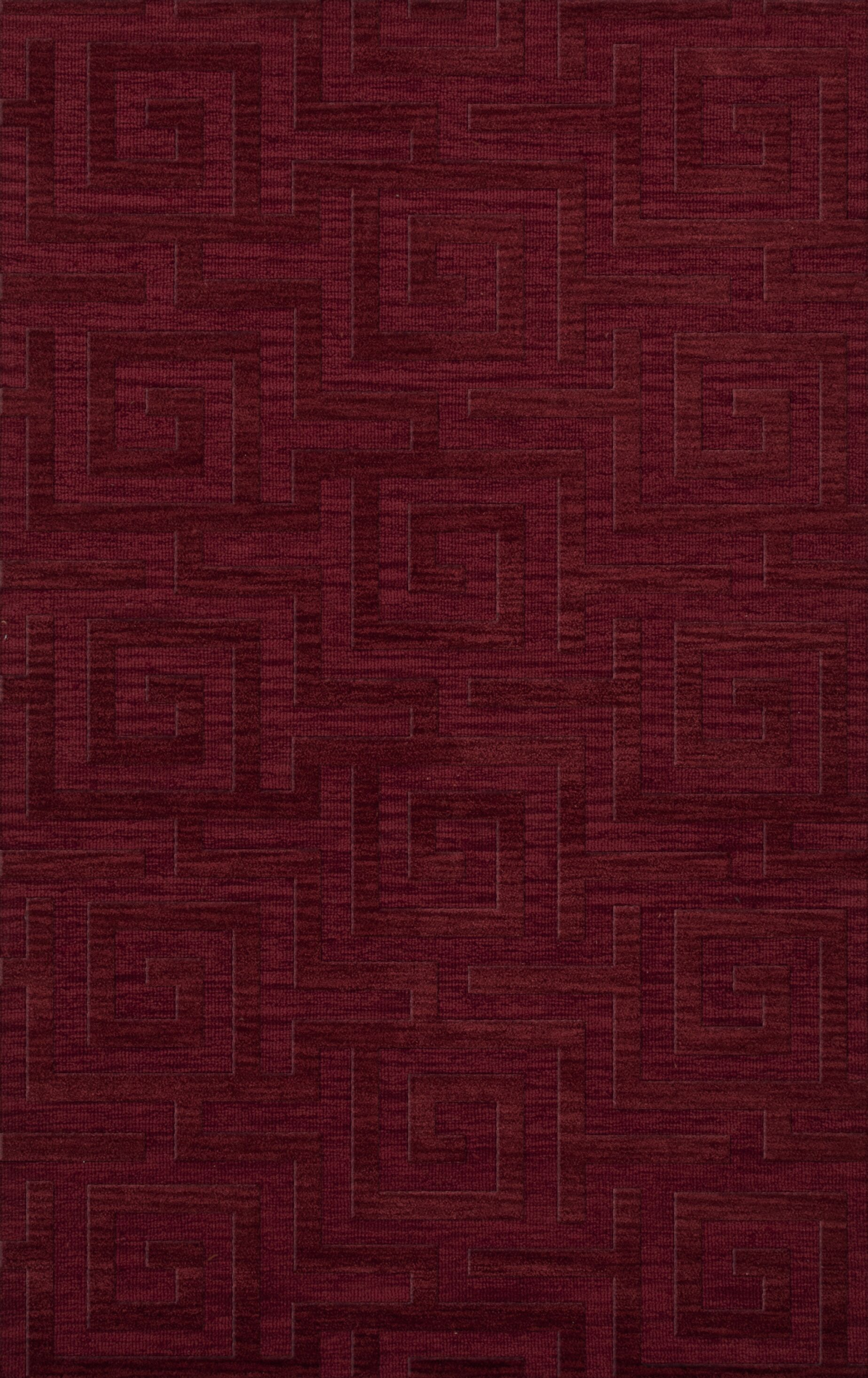 Dover Tufted Wool Rich Red Area Rug Rug Size: Rectangle 9' x 12'