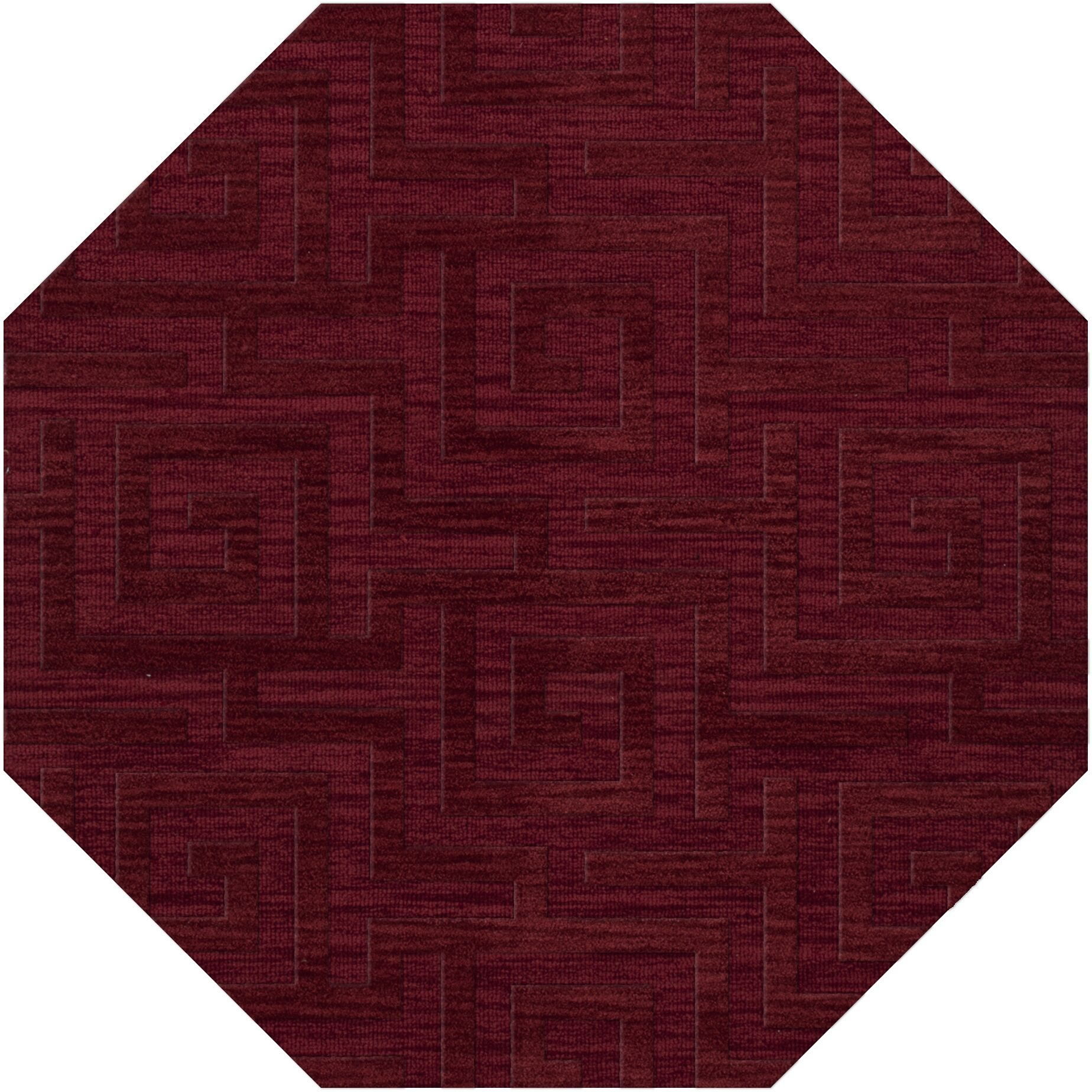 Dover Tufted Wool Rich Red Area Rug Rug Size: Octagon 10'