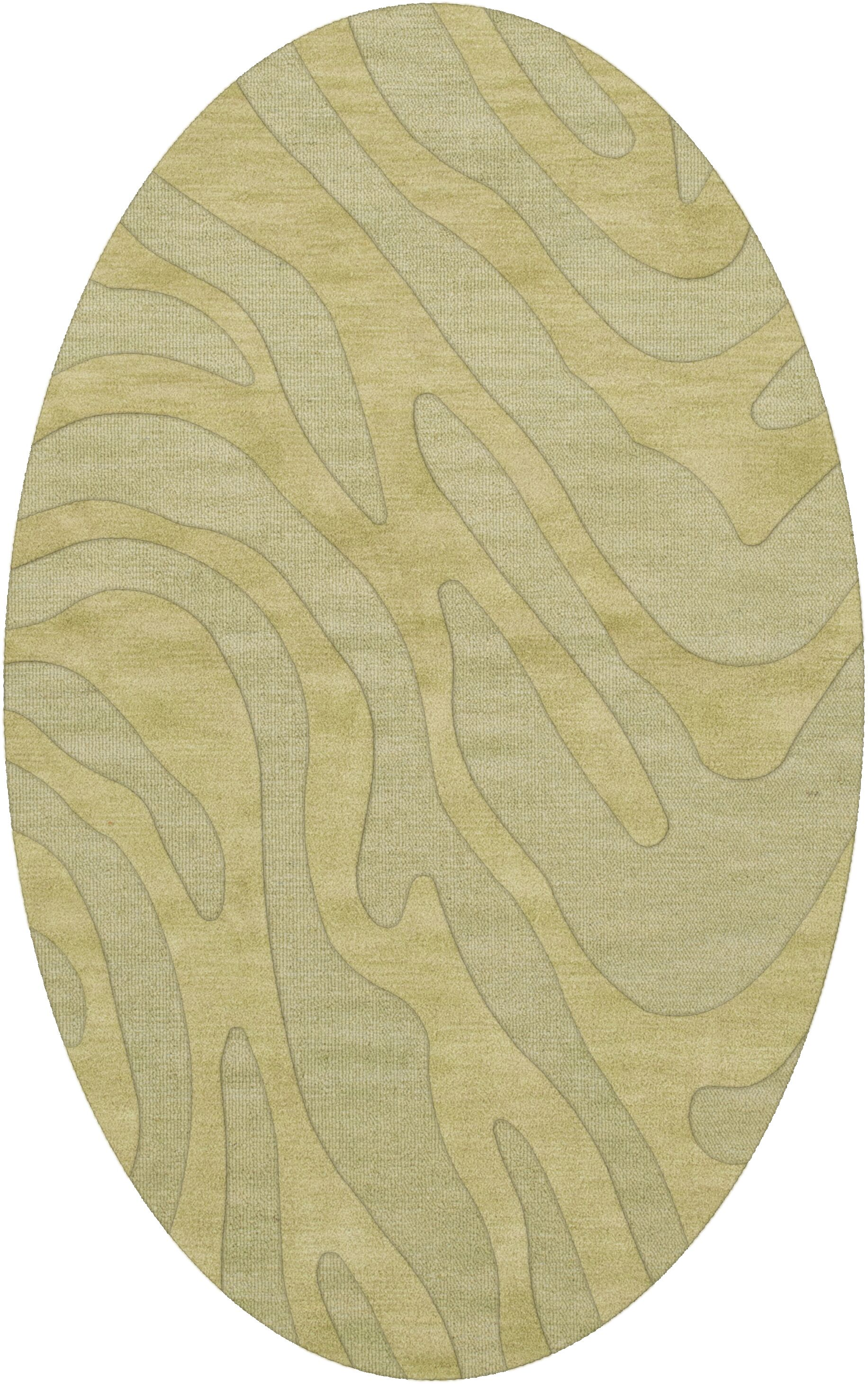 Dover Tufted Wool Mint Area Rug Rug Size: Oval 3' x 5'