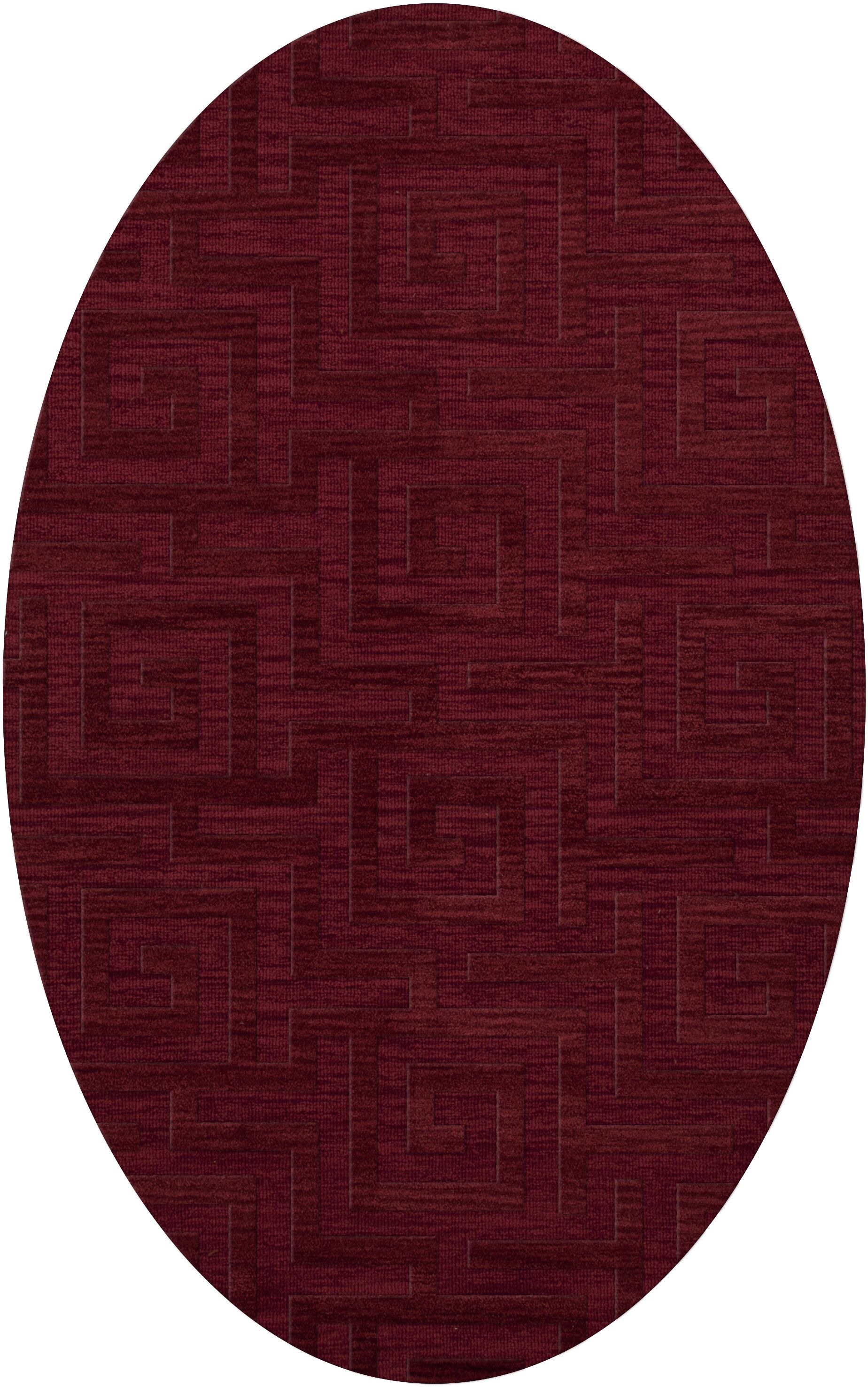 Dover Tufted Wool Rich Red Area Rug Rug Size: Oval 5' x 8'