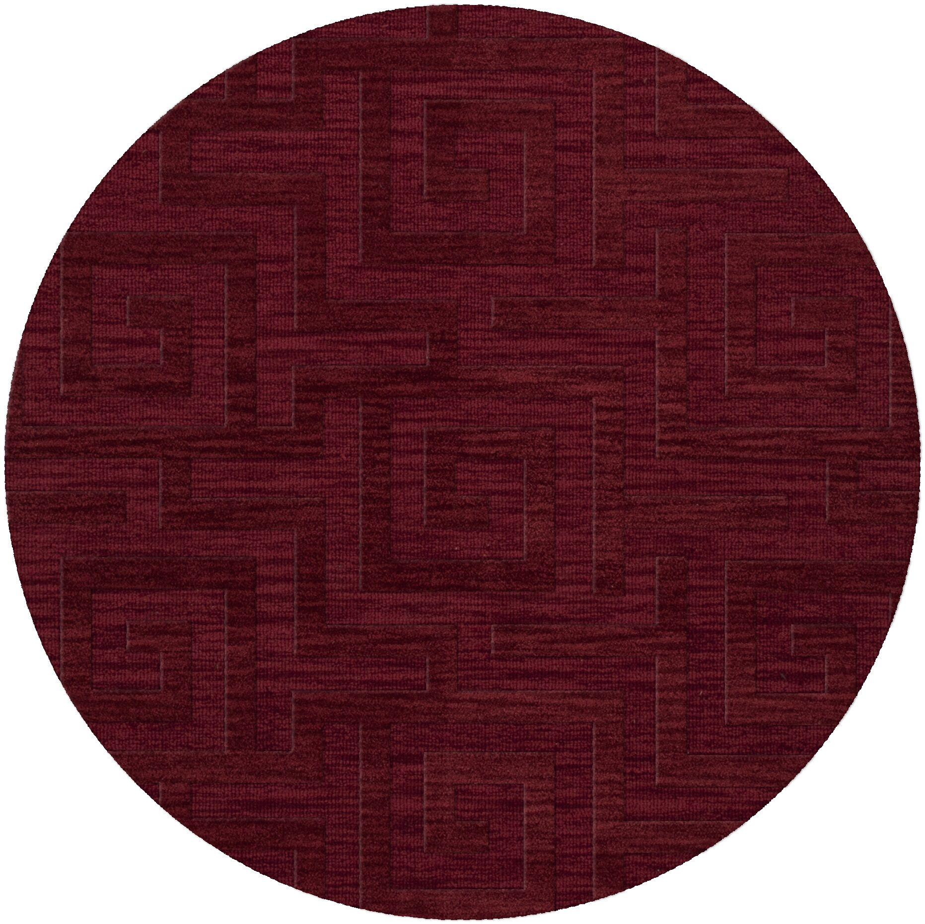 Dover Tufted Wool Rich Red Area Rug Rug Size: Round 10'