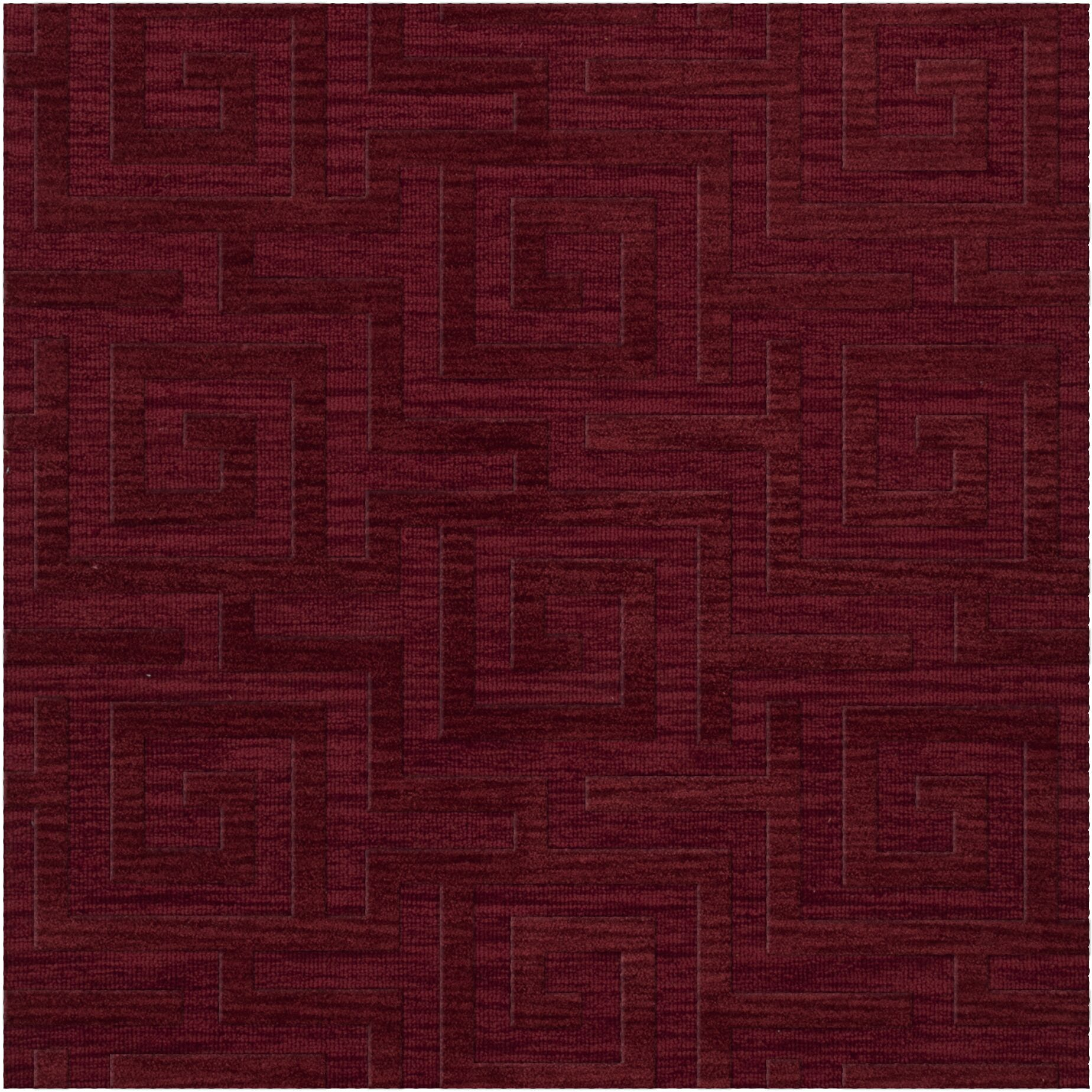 Dover Tufted Wool Rich Red Area Rug Rug Size: Square 6'