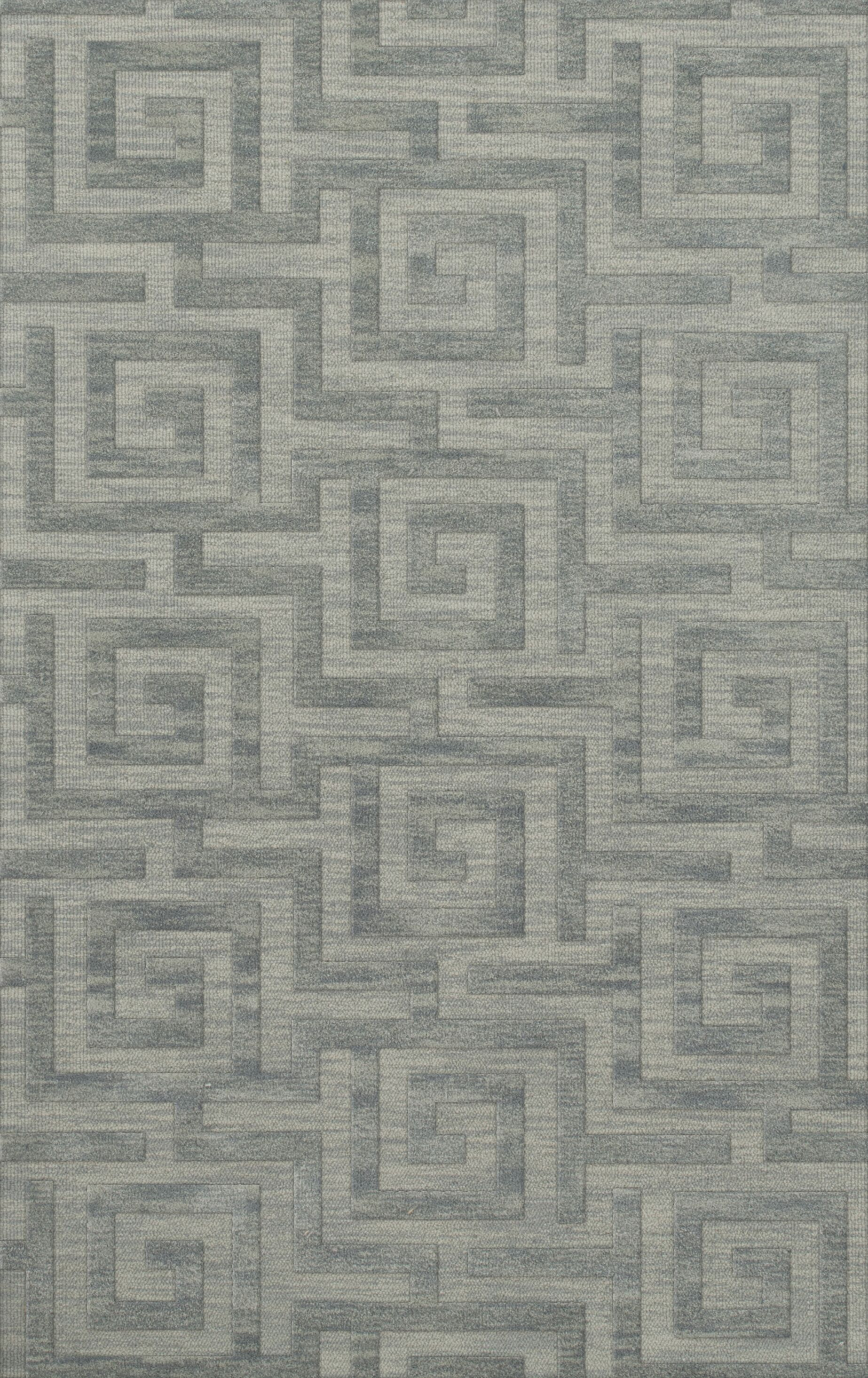 Dover Tufted Wool Sea Glass Area Rug Rug Size: Rectangle 8' x 10'