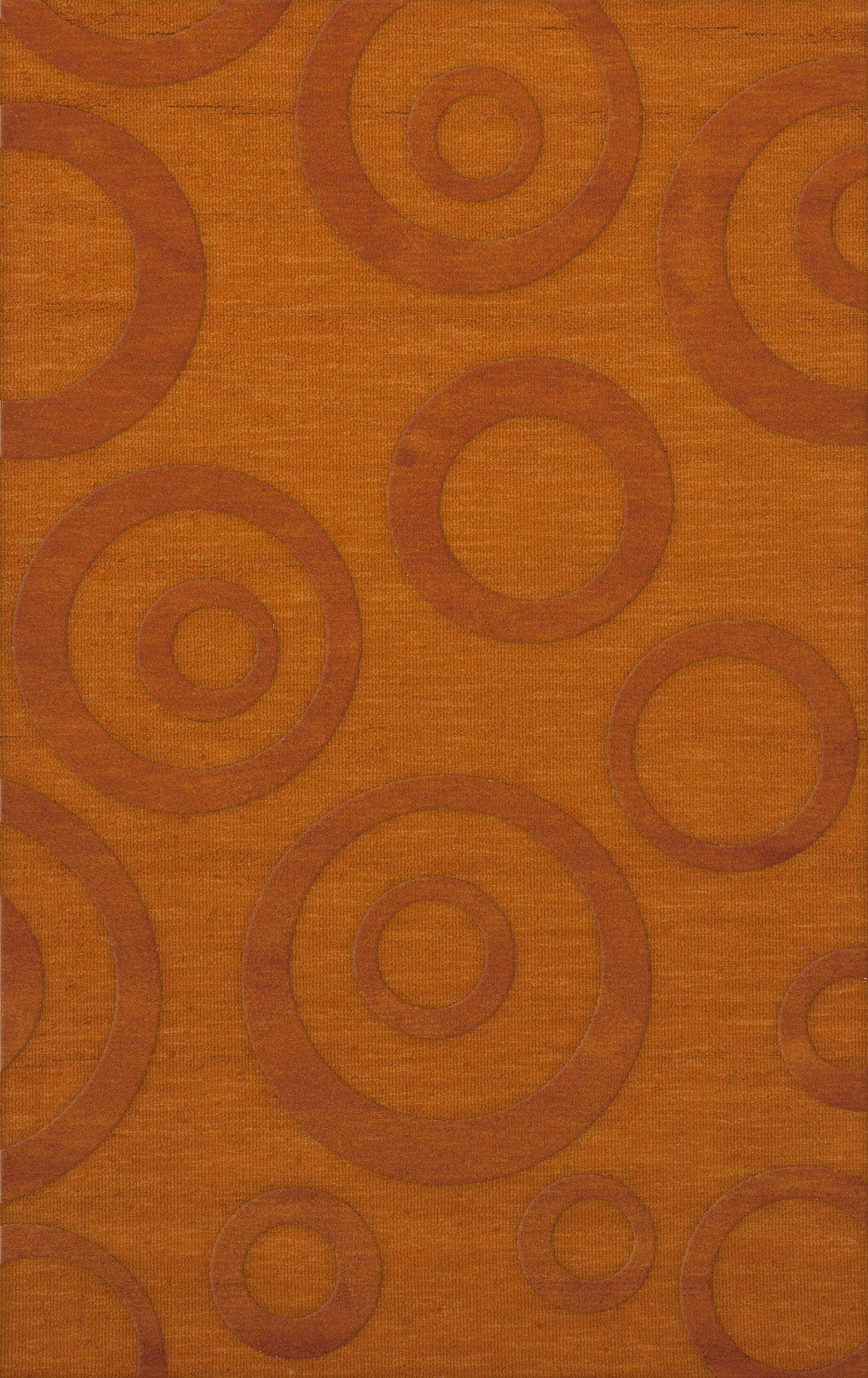 Dover Tufted Wool Orange Area Rug Rug Size: Rectangle 8' x 10'