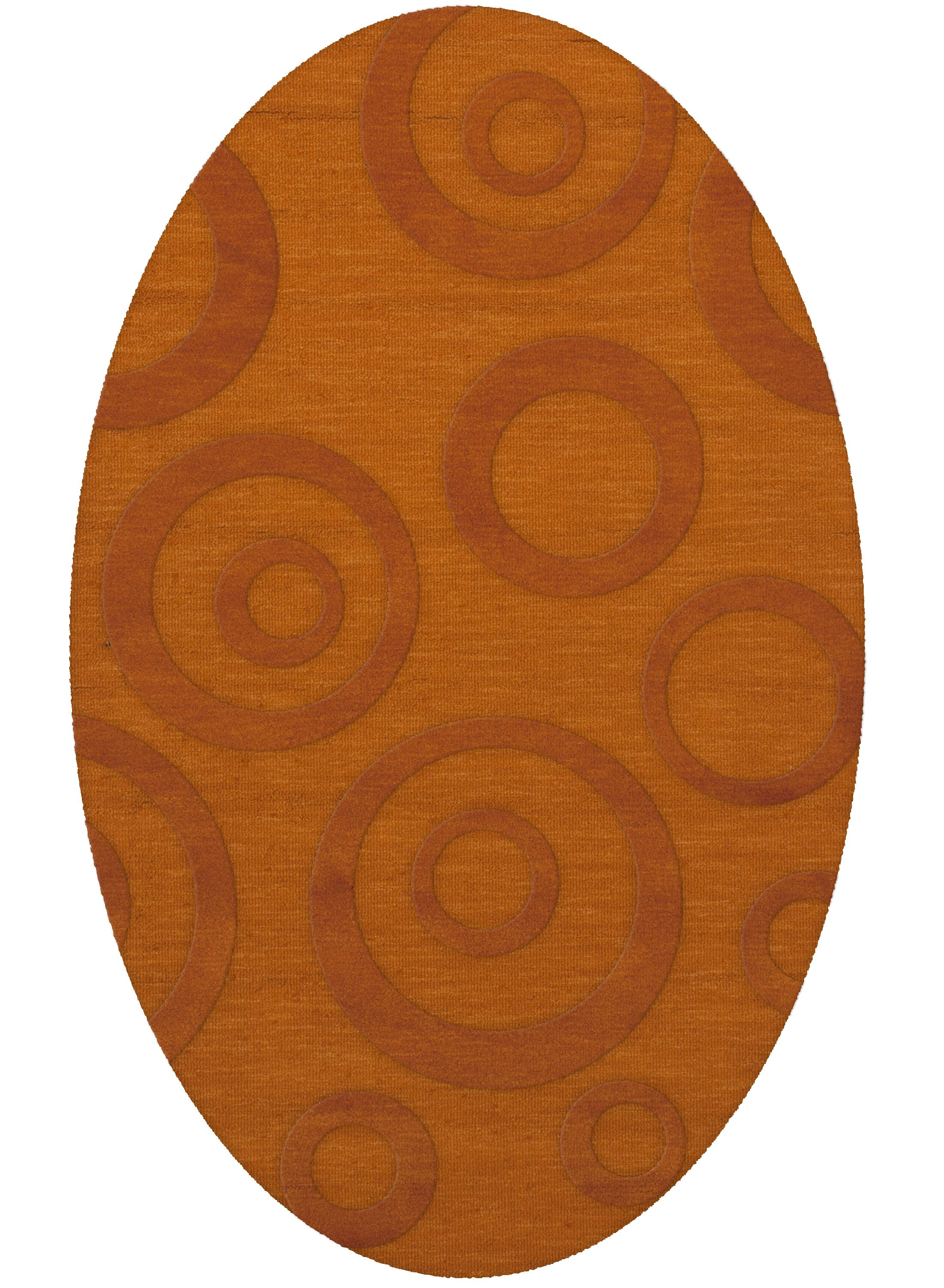 Dover Tufted Wool Orange Area Rug Rug Size: Oval 6' x 9'