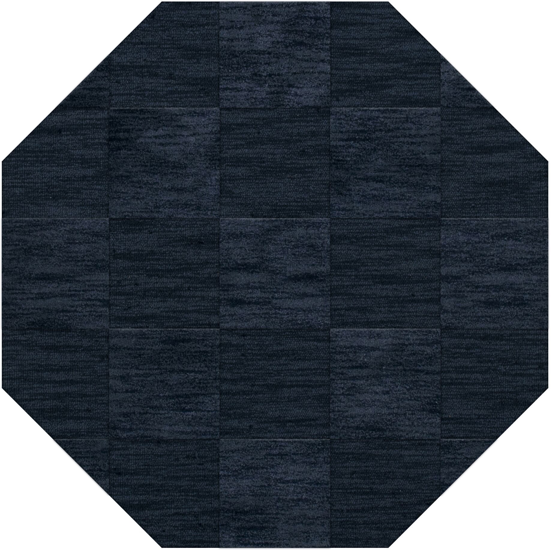 Dover Tufted Wool Navy Area Rug Rug Size: Octagon 6'