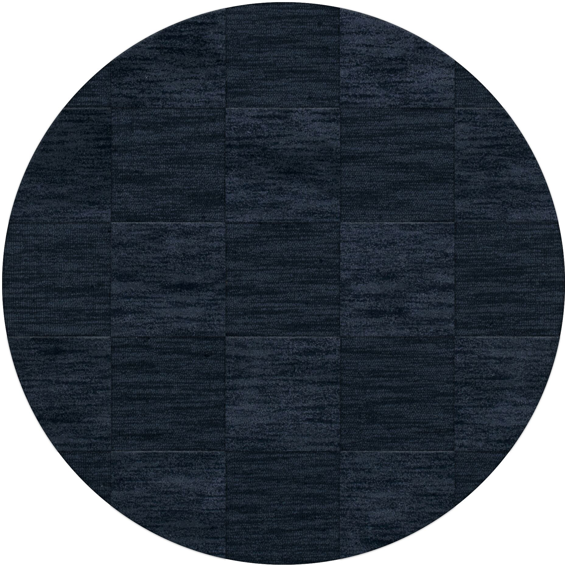 Dover Tufted Wool Navy Area Rug Rug Size: Round 12'