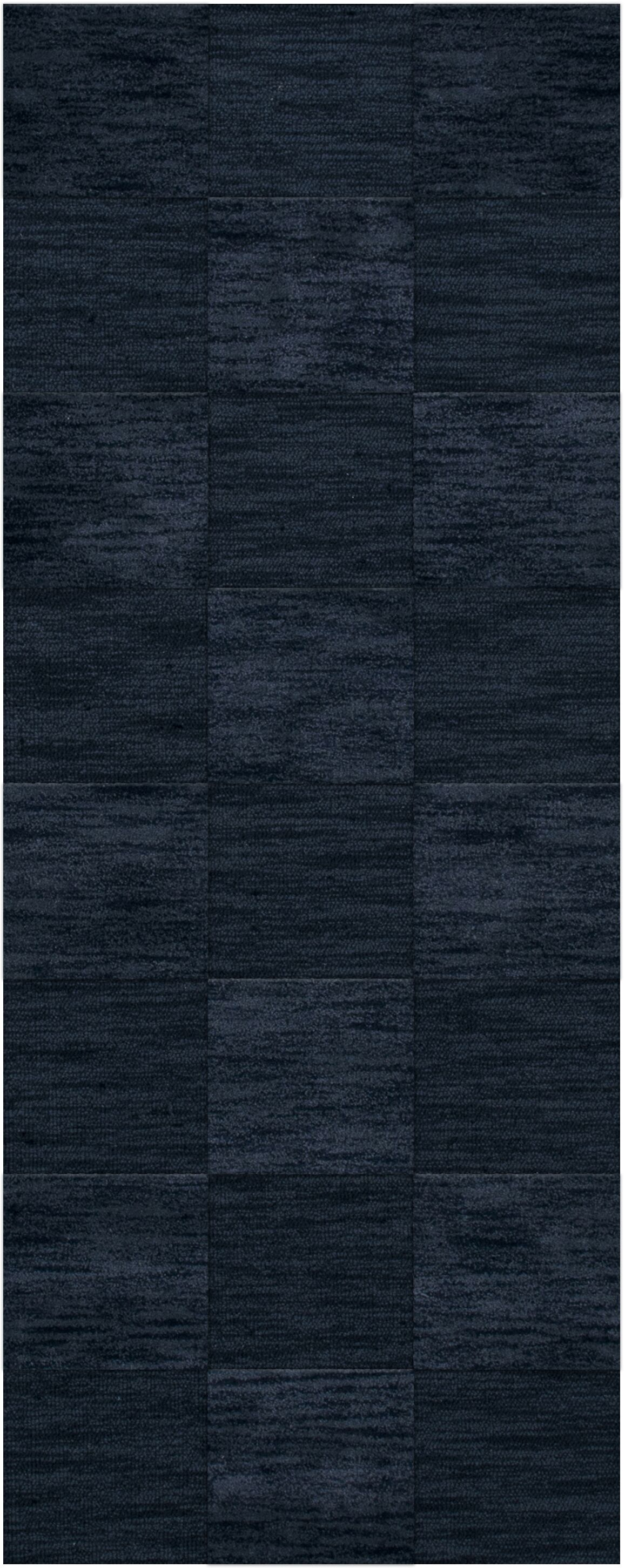 Dover Tufted Wool Navy Area Rug Rug Size: Runner 2'6