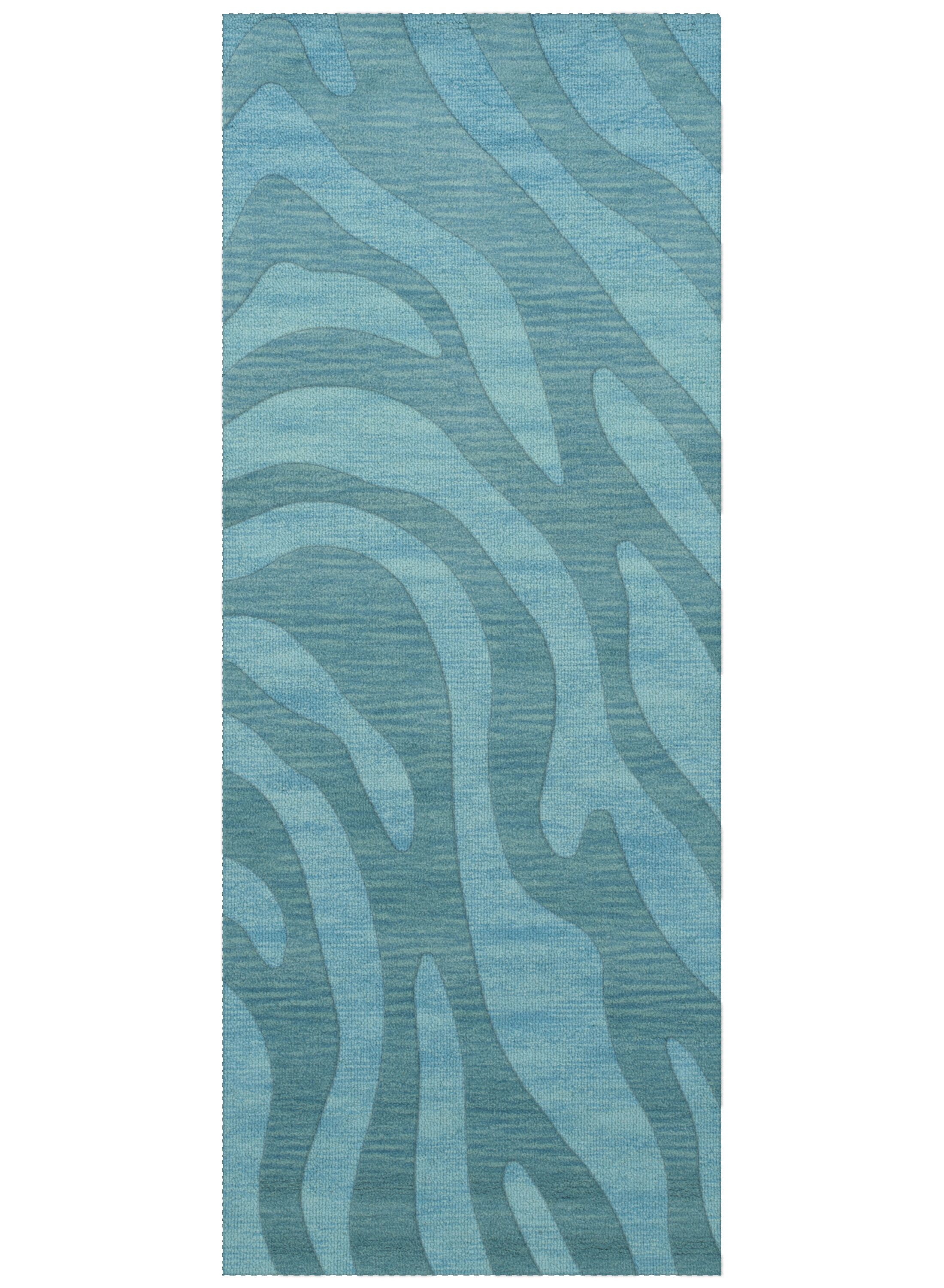 Dover Tufted Wool Peacock Area Rug Rug Size: Runner 2'6