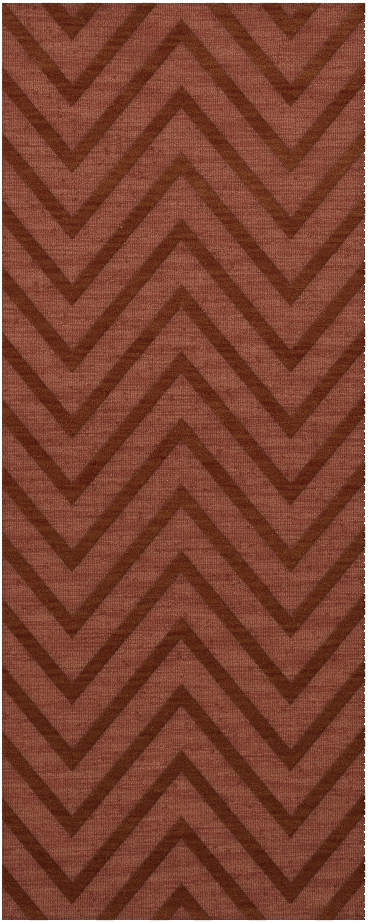Dover Tufted Wool Coral Area Rug Rug Size: Runner 2'6