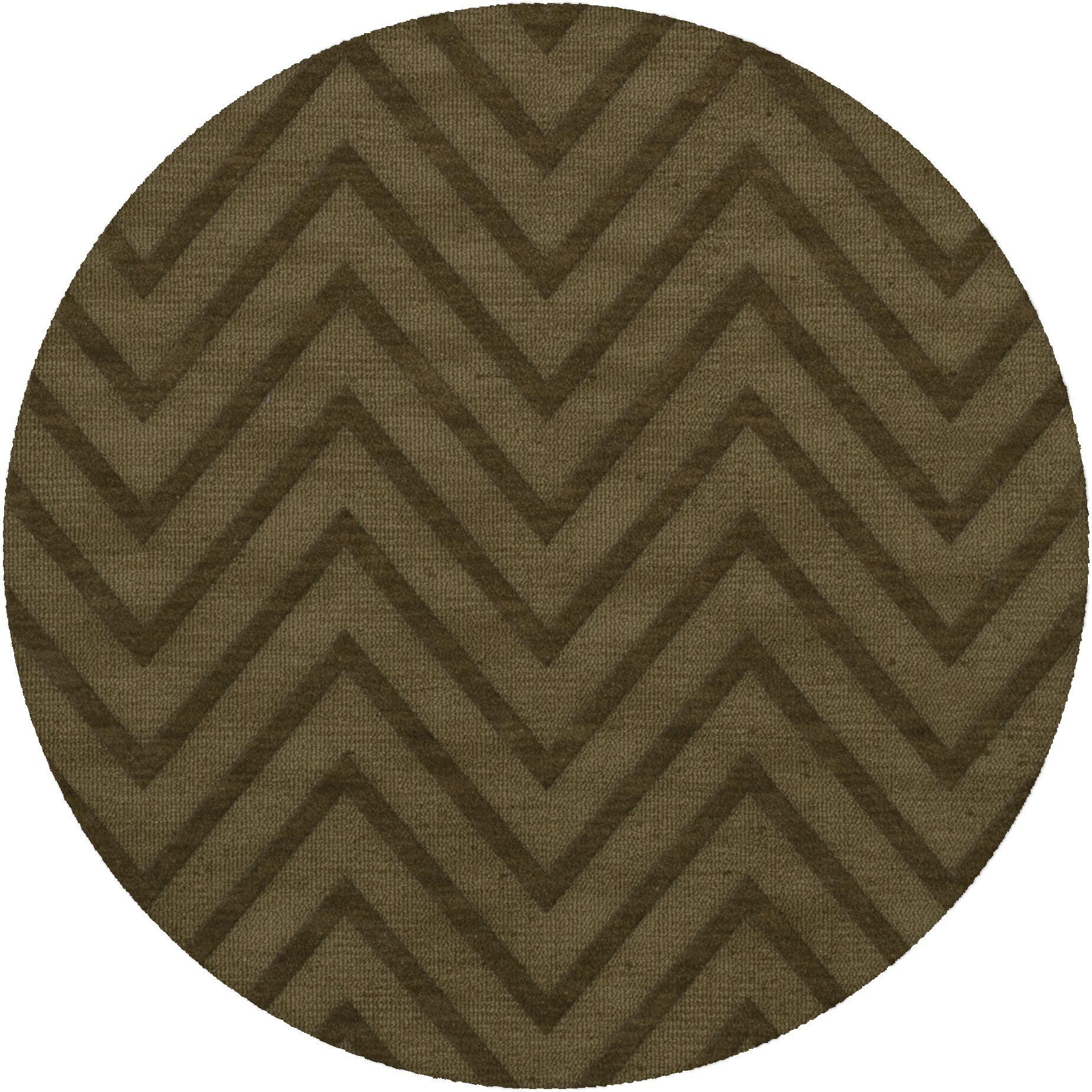 Dover Leaf Area Rug Rug Size: Round 8'