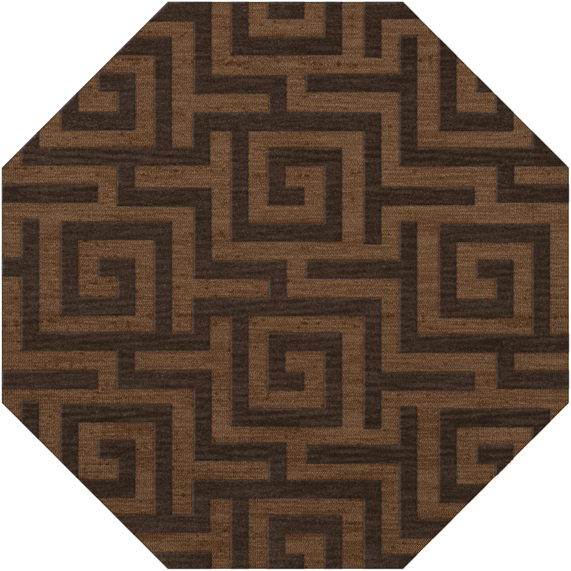 Dover Tufted Wool Caramel Area Rug Rug Size: Octagon 10'