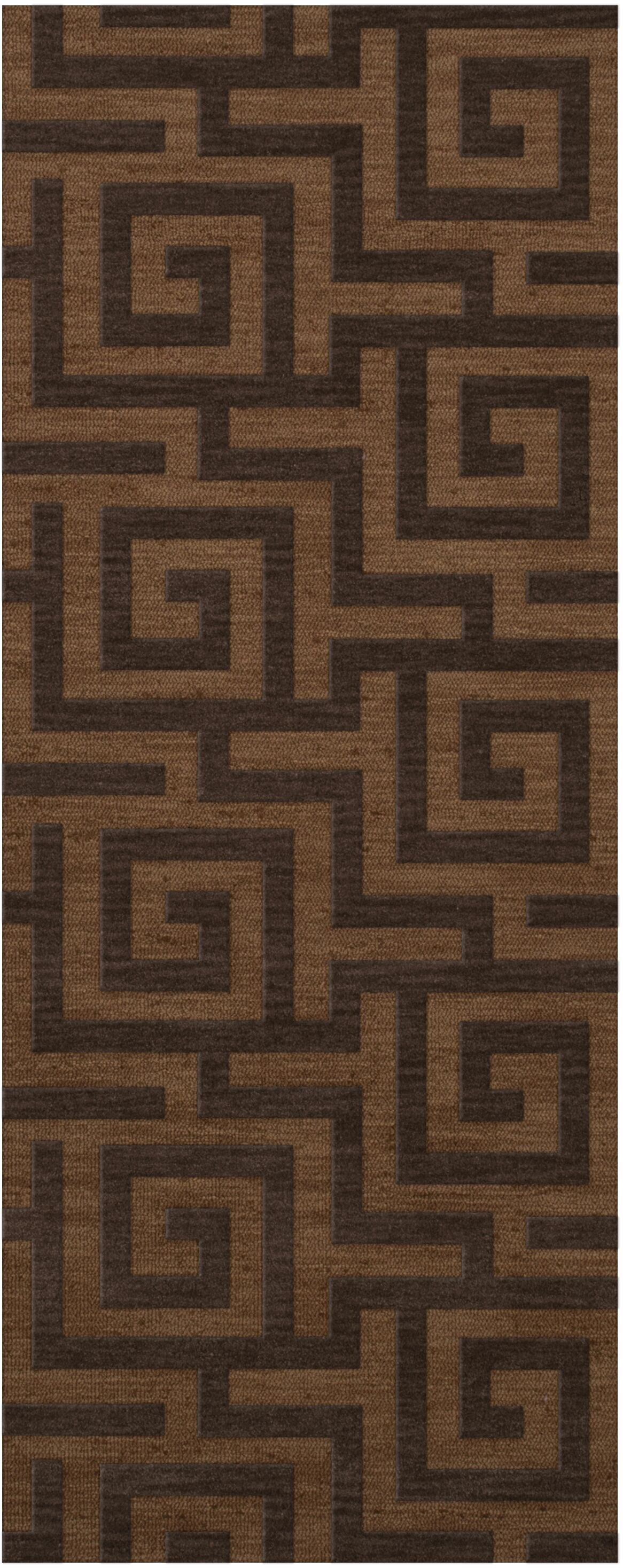 Dover Tufted Wool Caramel Area Rug Rug Size: Runner 2'6