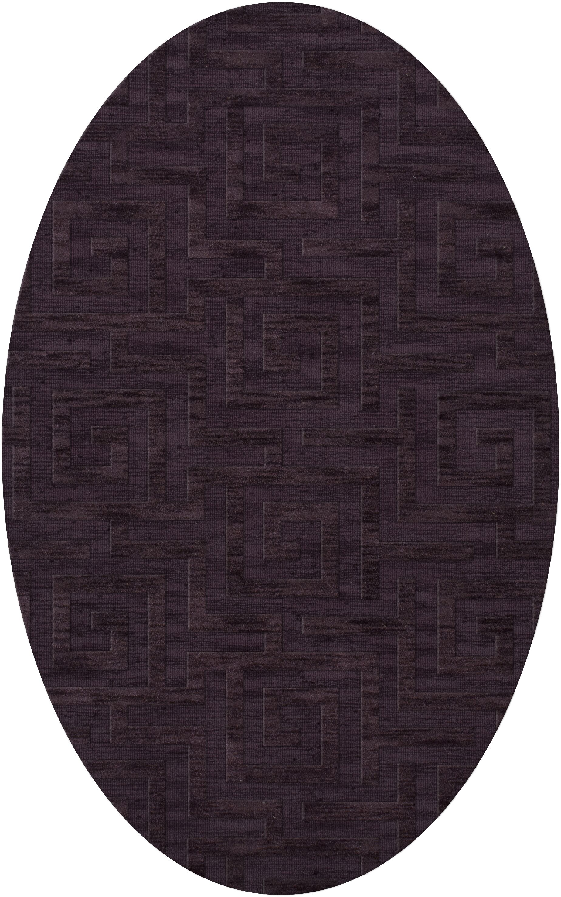 Dover Grape Ice Area Rug Rug Size: Oval 8' x 10'
