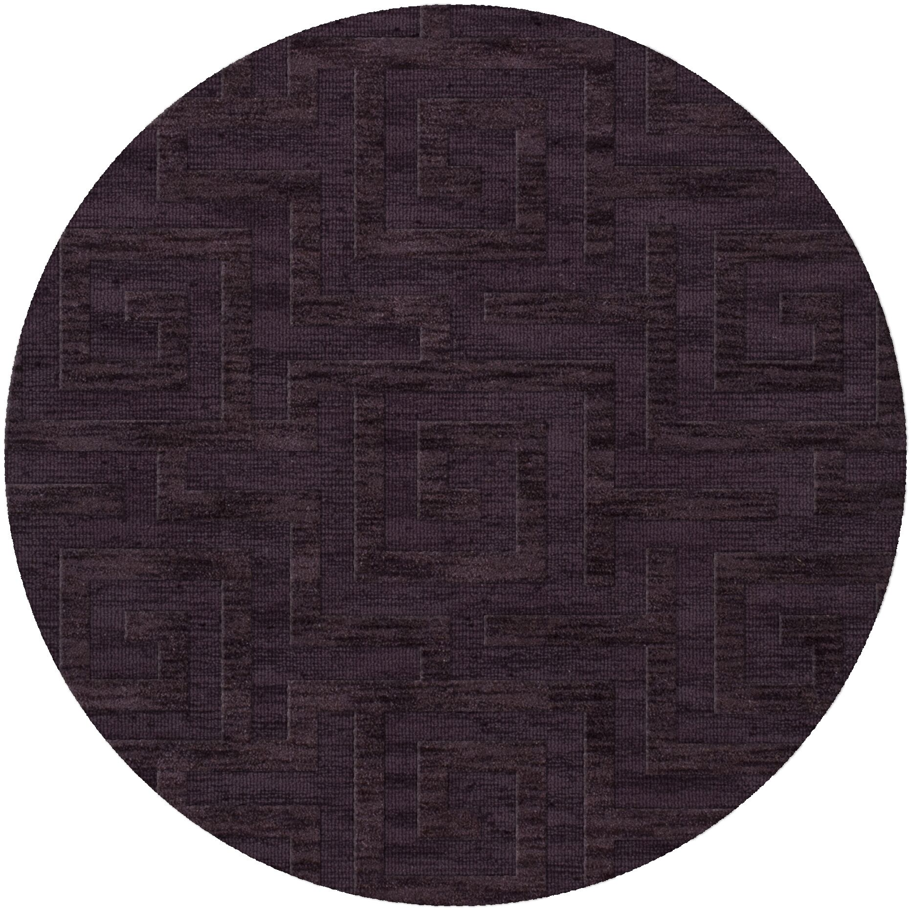 Dover Grape Ice Area Rug Rug Size: Round 12'