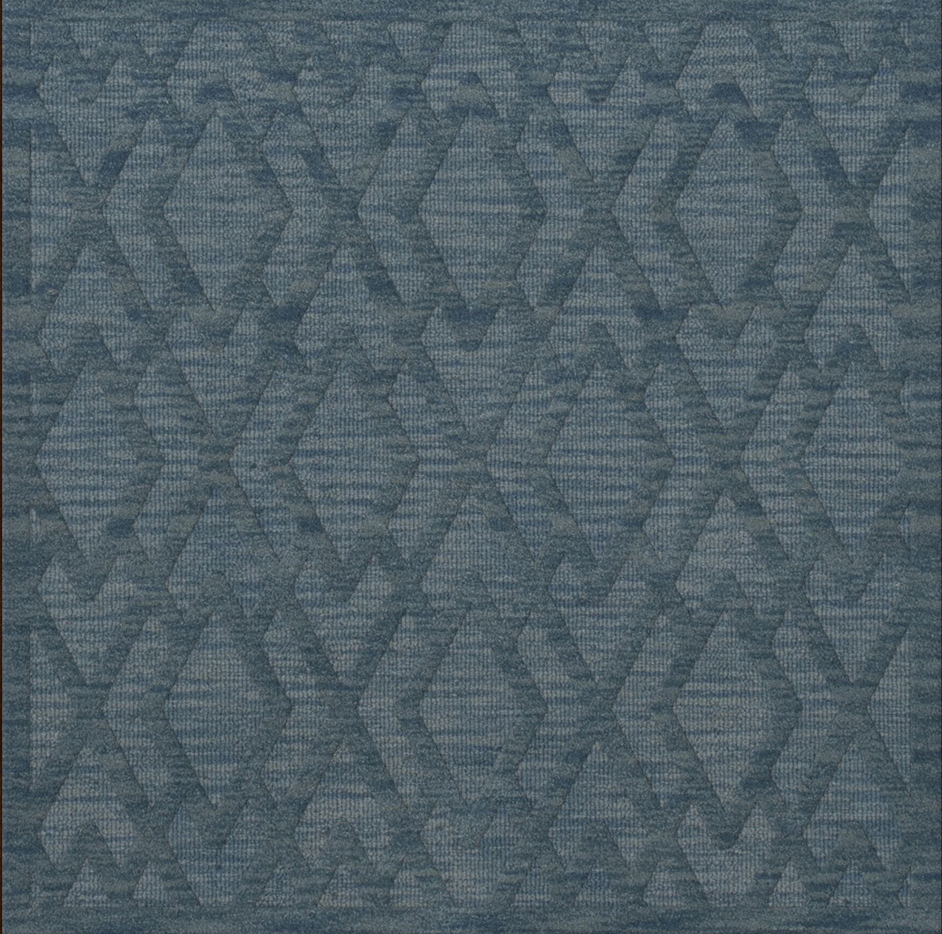 Dover Tufted Wool Sky Area Rug Rug Size: Square 10'