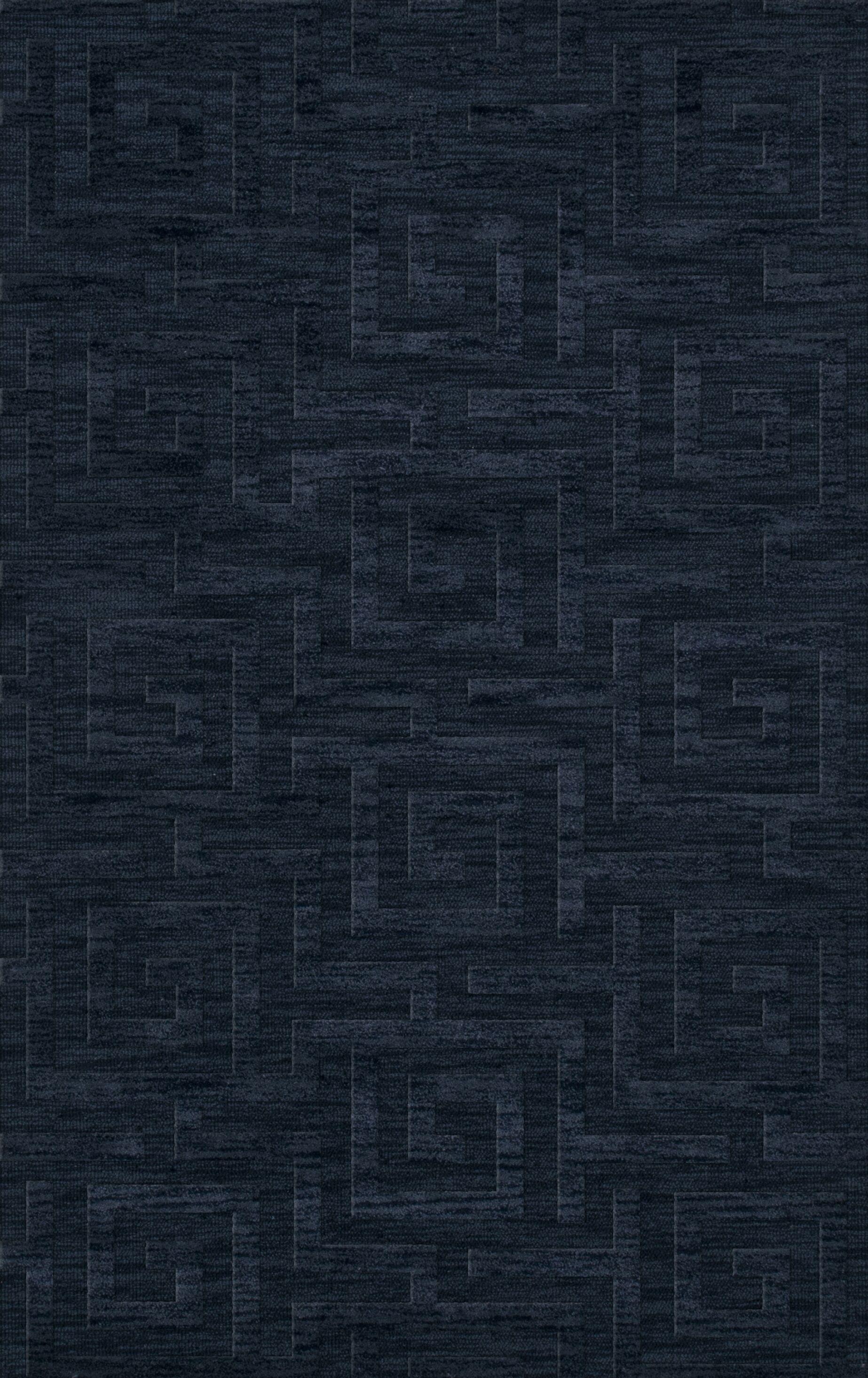 Dover Tufted Wool Navy Area Rug Rug Size: Rectangle 8' x 10'