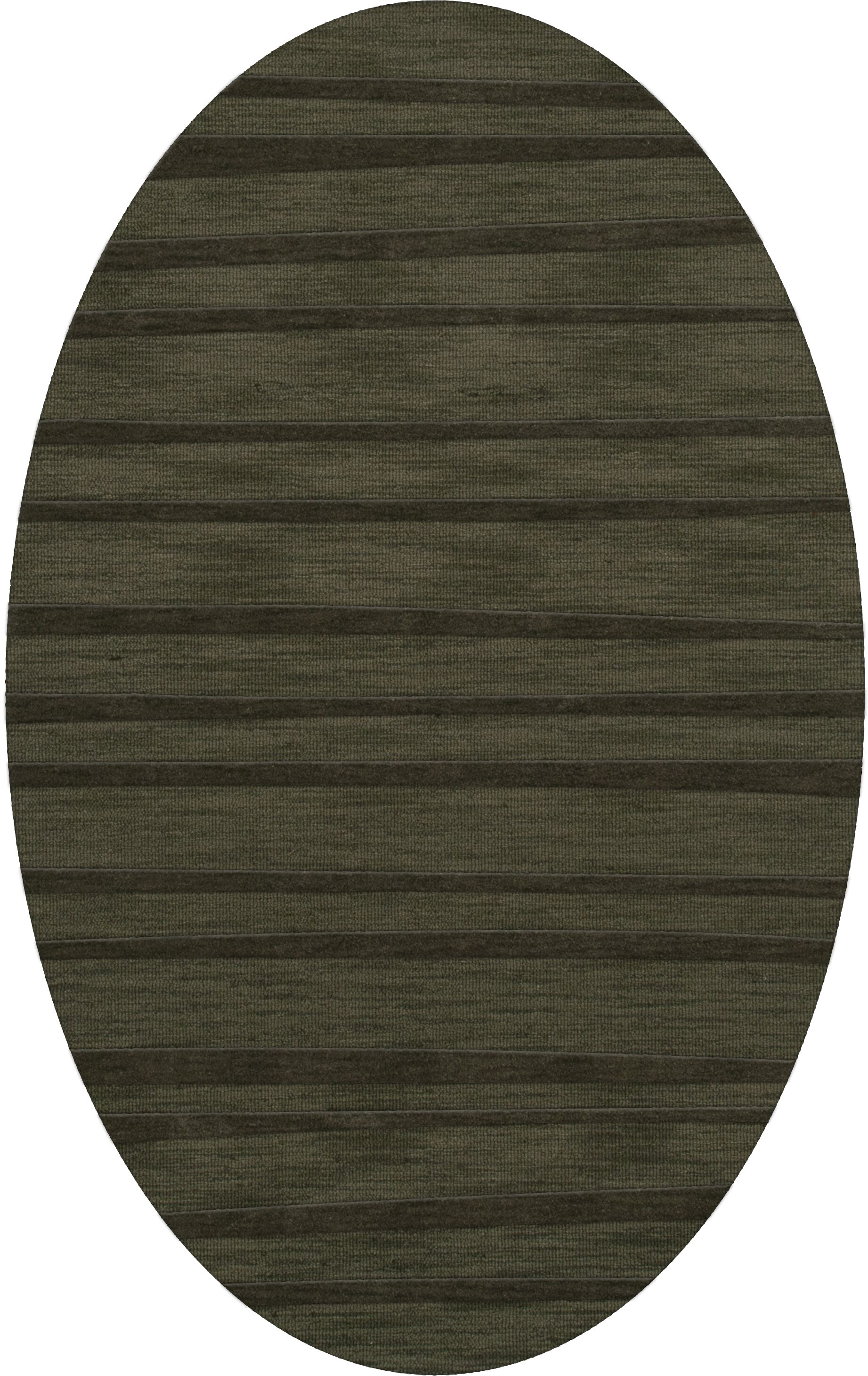 Dover Tufted Wool Fern Area Rug Rug Size: Oval 4' x 6'
