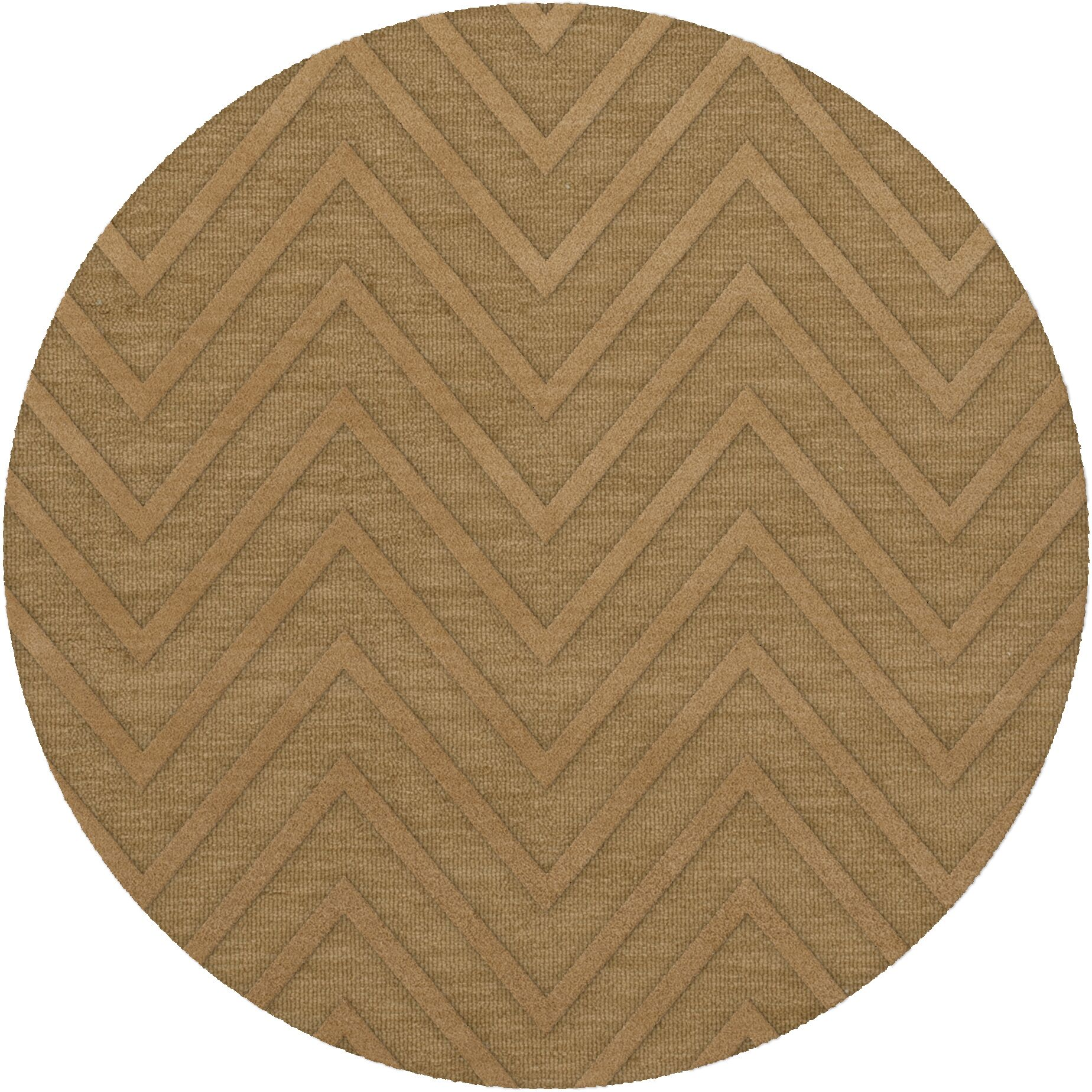 Dover Tufted Wool Wheat Area Rug Rug Size: Round 10'