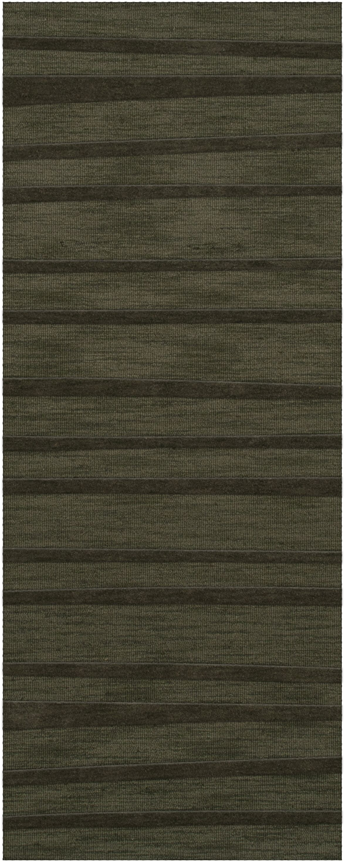 Dover Tufted Wool Fern Area Rug Rug Size: Runner 2'6