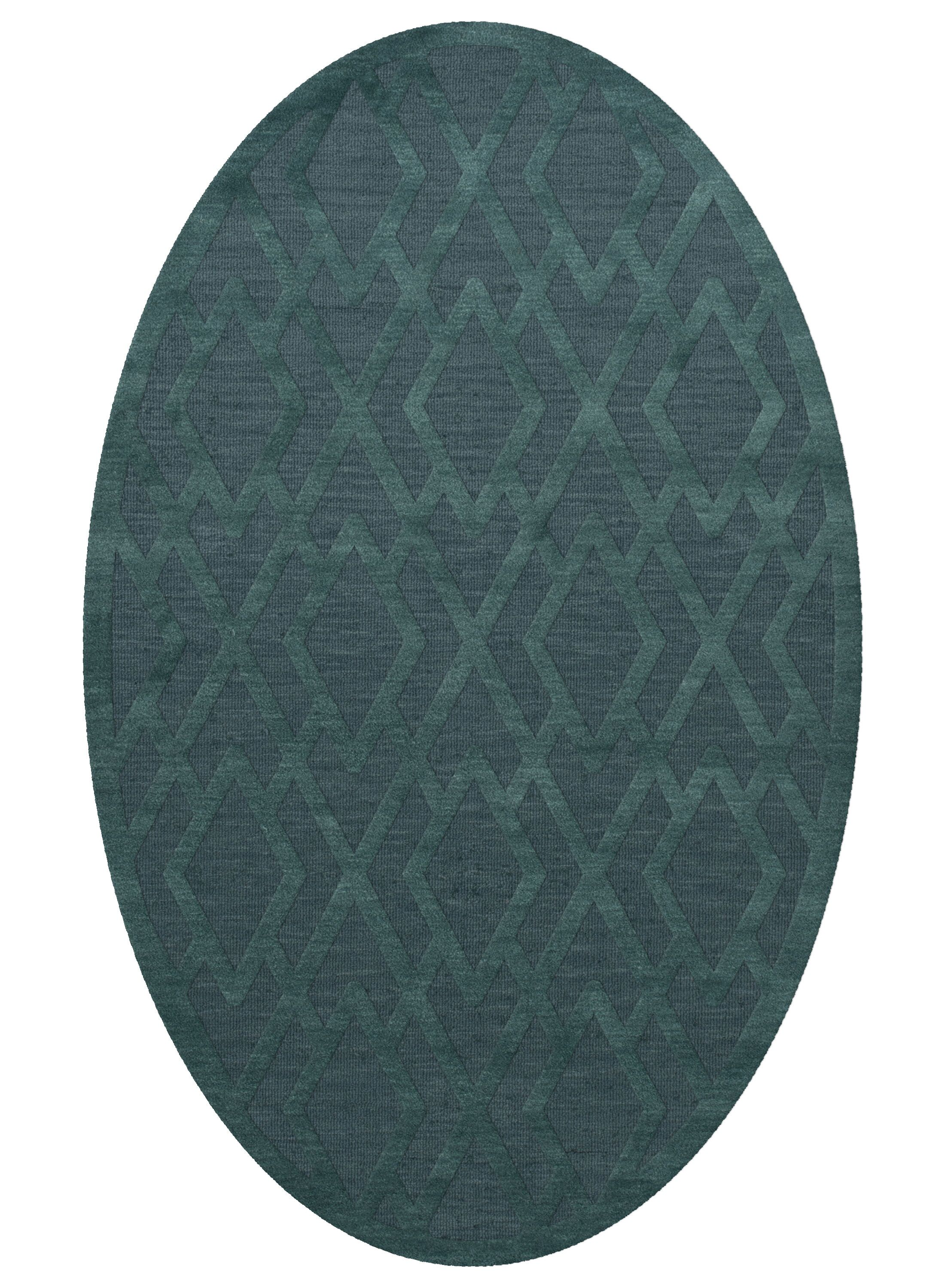 Dover Teal Area Rug Rug Size: Oval 12' x 15'