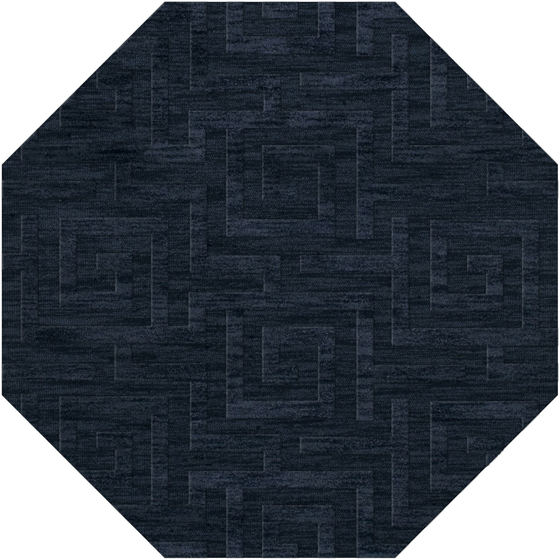Dover Tufted Wool Navy Area Rug Rug Size: Octagon 8'