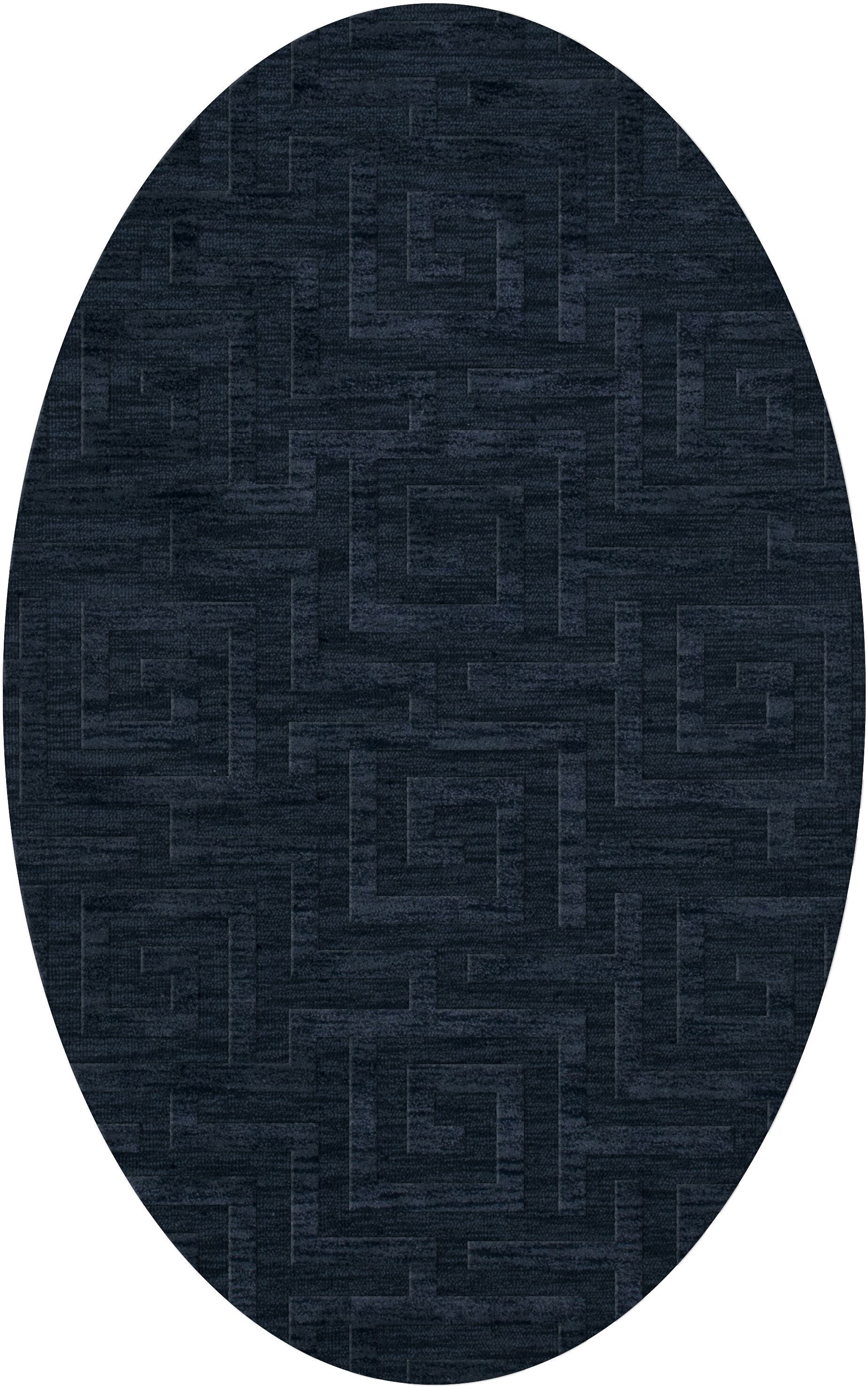 Dover Tufted Wool Navy Area Rug Rug Size: Oval 6' x 9'