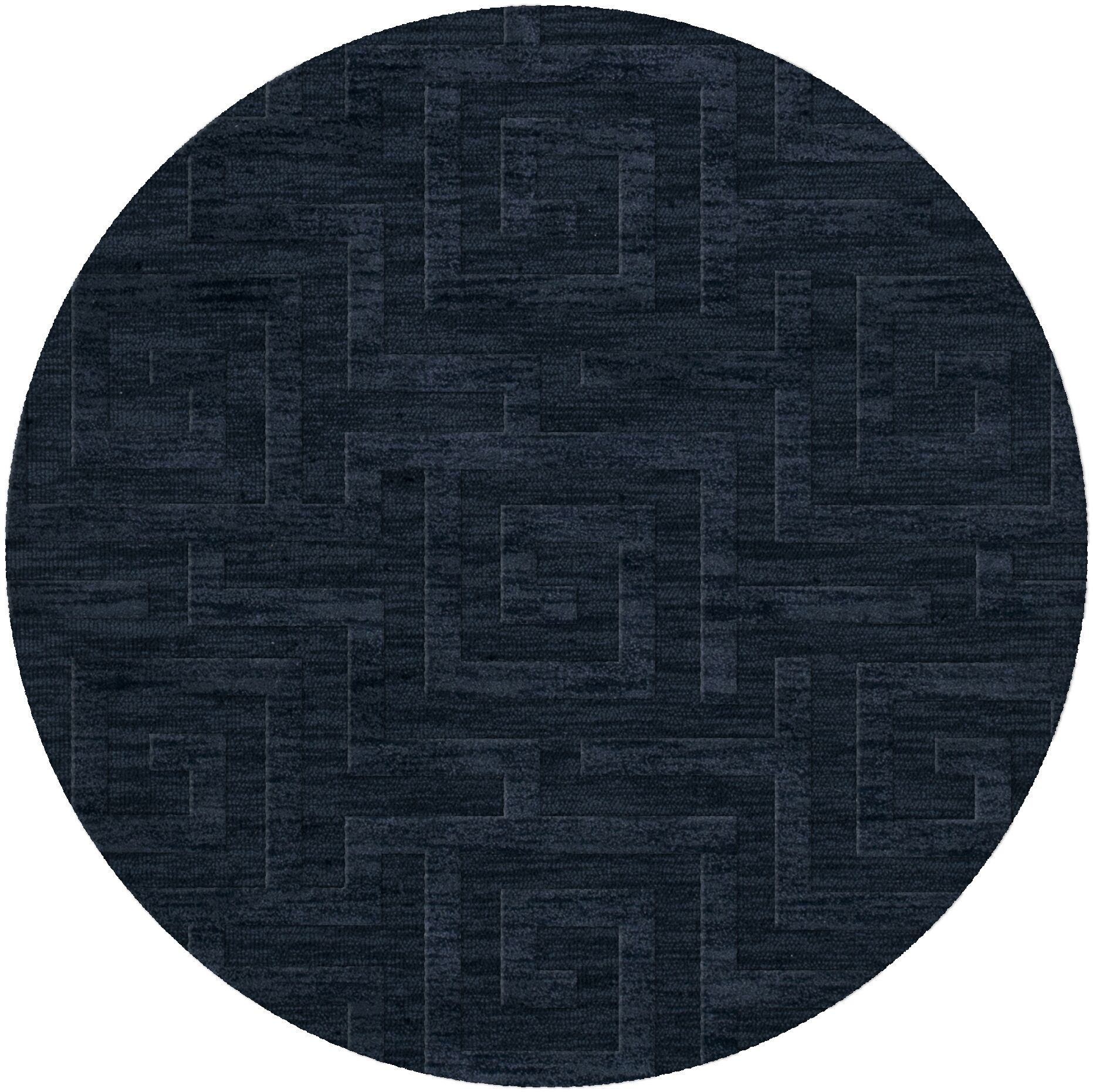 Dover Tufted Wool Navy Area Rug Rug Size: Round 10'